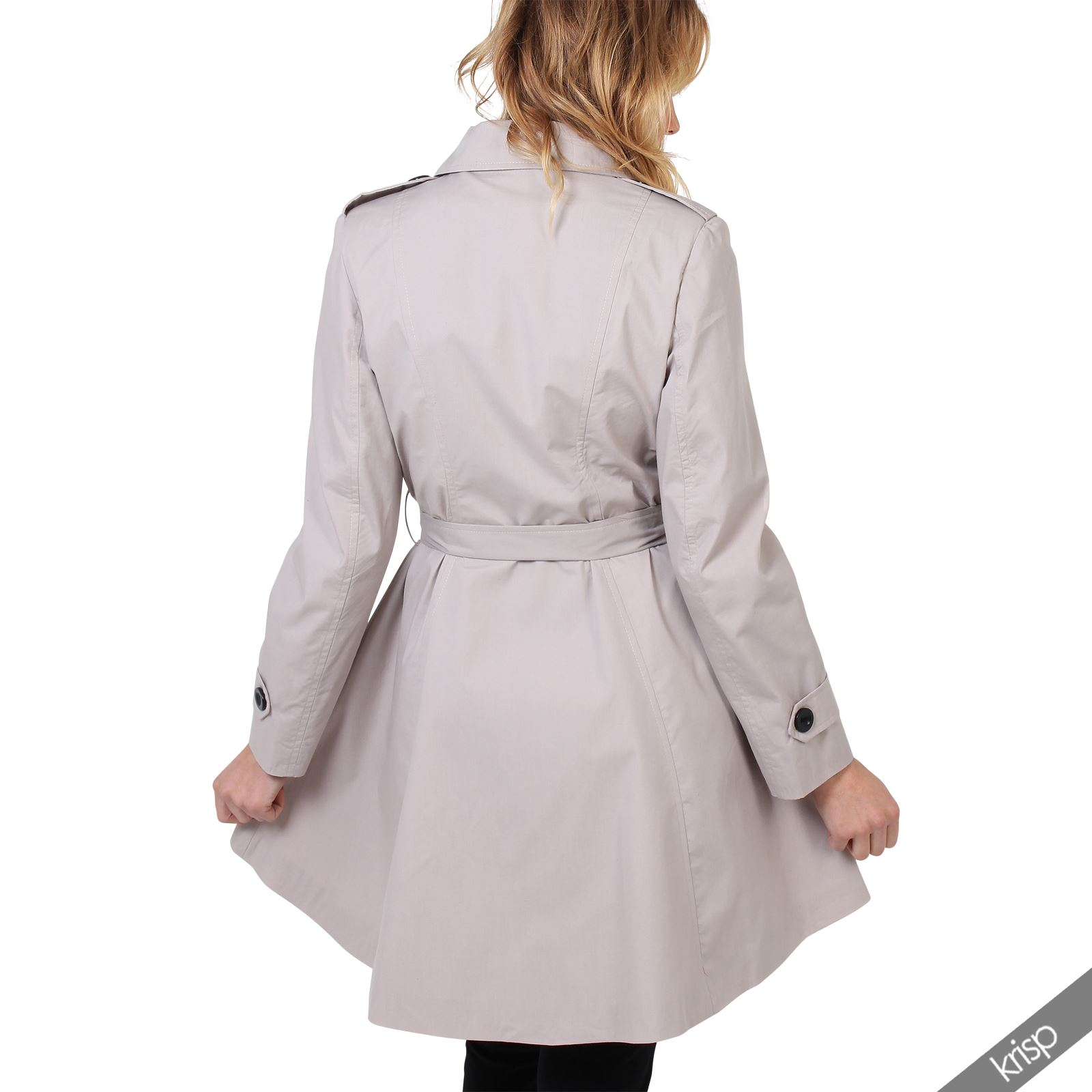 UK-Ladies-Classic-Asymmetric-Mac-Jacket-Womens-Military-Belted-Trench-Coat thumbnail 17