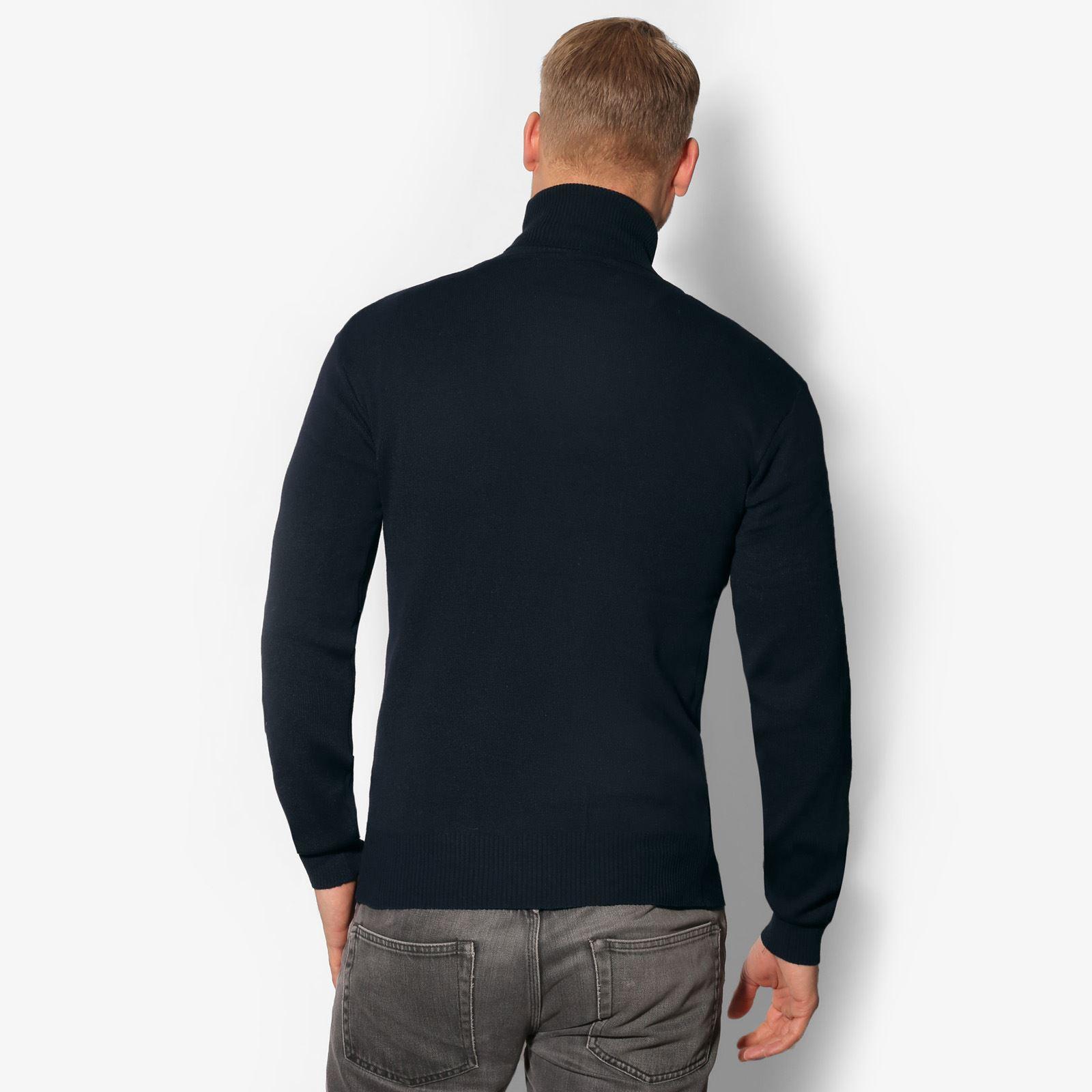 Jersey-Hombre-Lana-Caliente-Barato-Cuello-Vuelto-Alto-Talla-Grande-Frio-Invierno miniatura 5