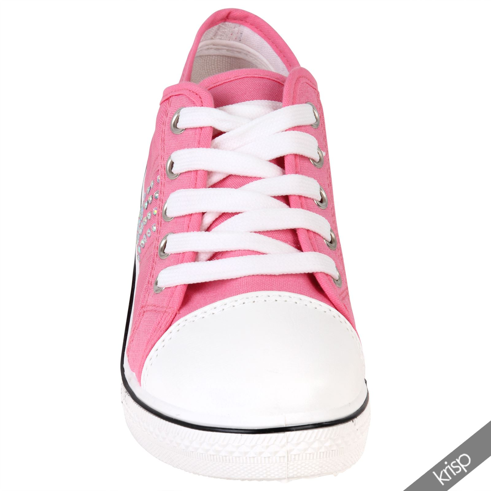Womens Canvas Shoes Lace Up Sneakers