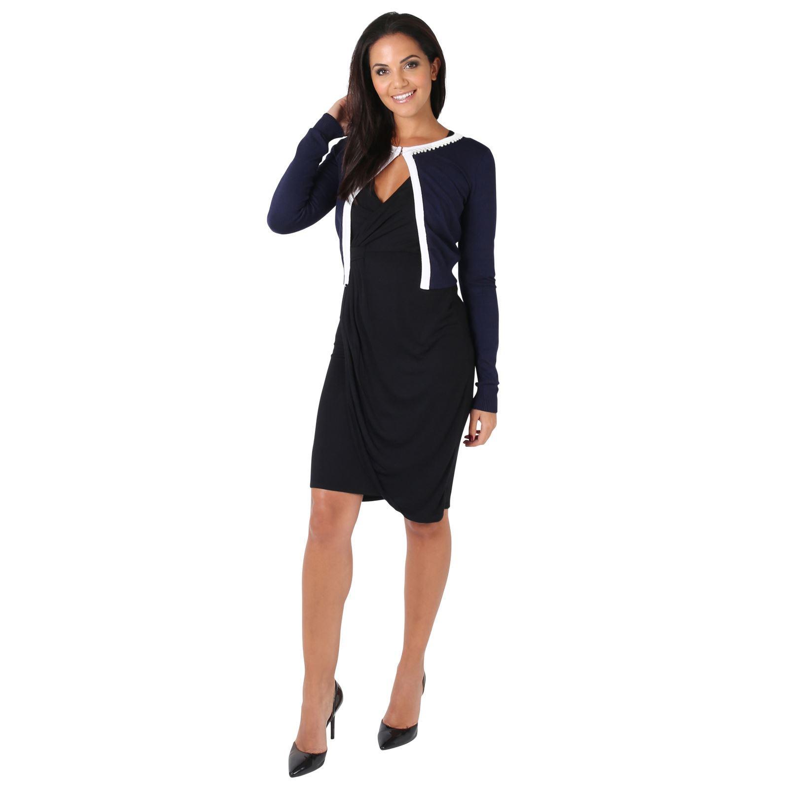 Womens-Ladies-Bolero-Shrug-Silky-Soft-Cardigan-Long-Sleeve-Knit-Short-Top-Work thumbnail 19