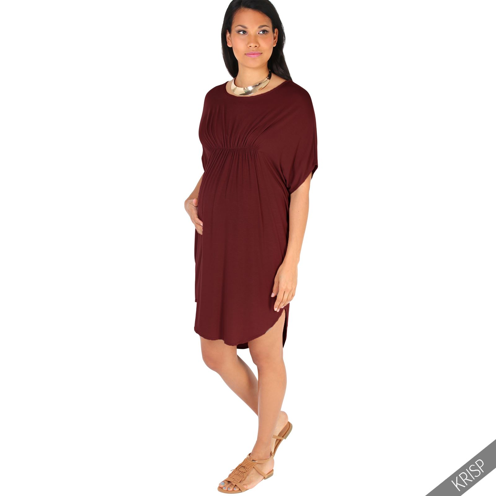 Maternity womens empire line short sleeve top long loose t shirt maternity womens empire line short sleeve top long ombrellifo Image collections