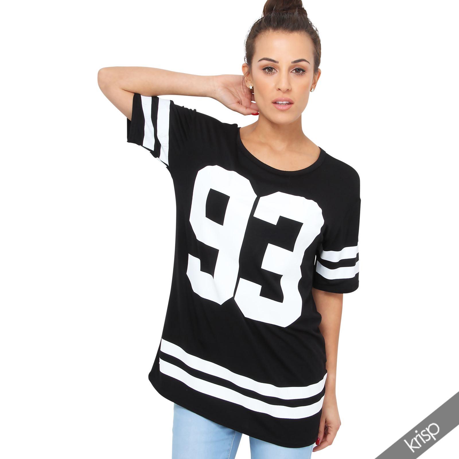 womens baseball top american football player 93 varsity jersey shirt plus size ebay. Black Bedroom Furniture Sets. Home Design Ideas