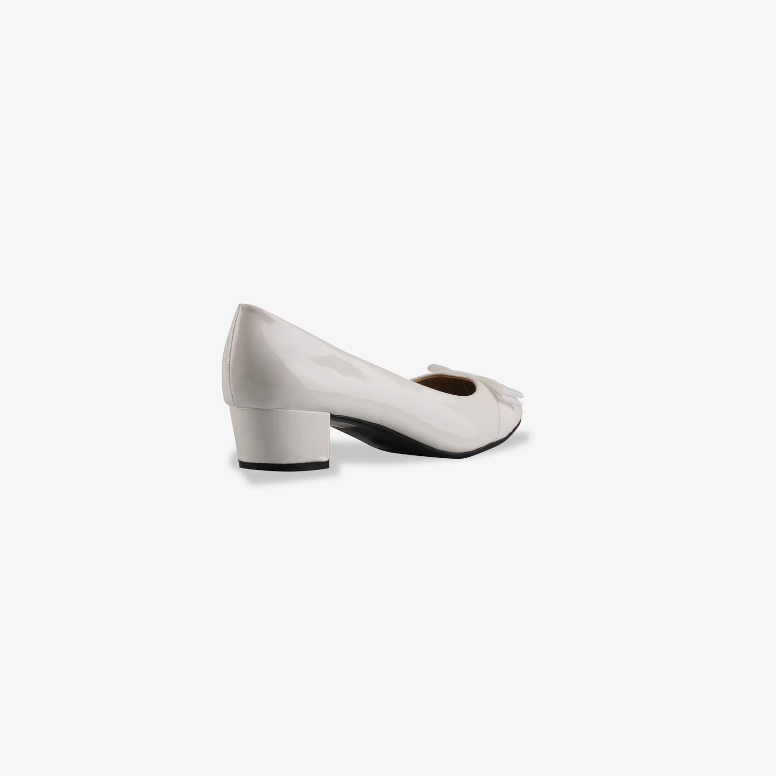 Damen-Elegante-Absatzschuhe-Hochlganz-Pumps-Blockabsatz-Ballerina-Schuhe-Chic Indexbild 31