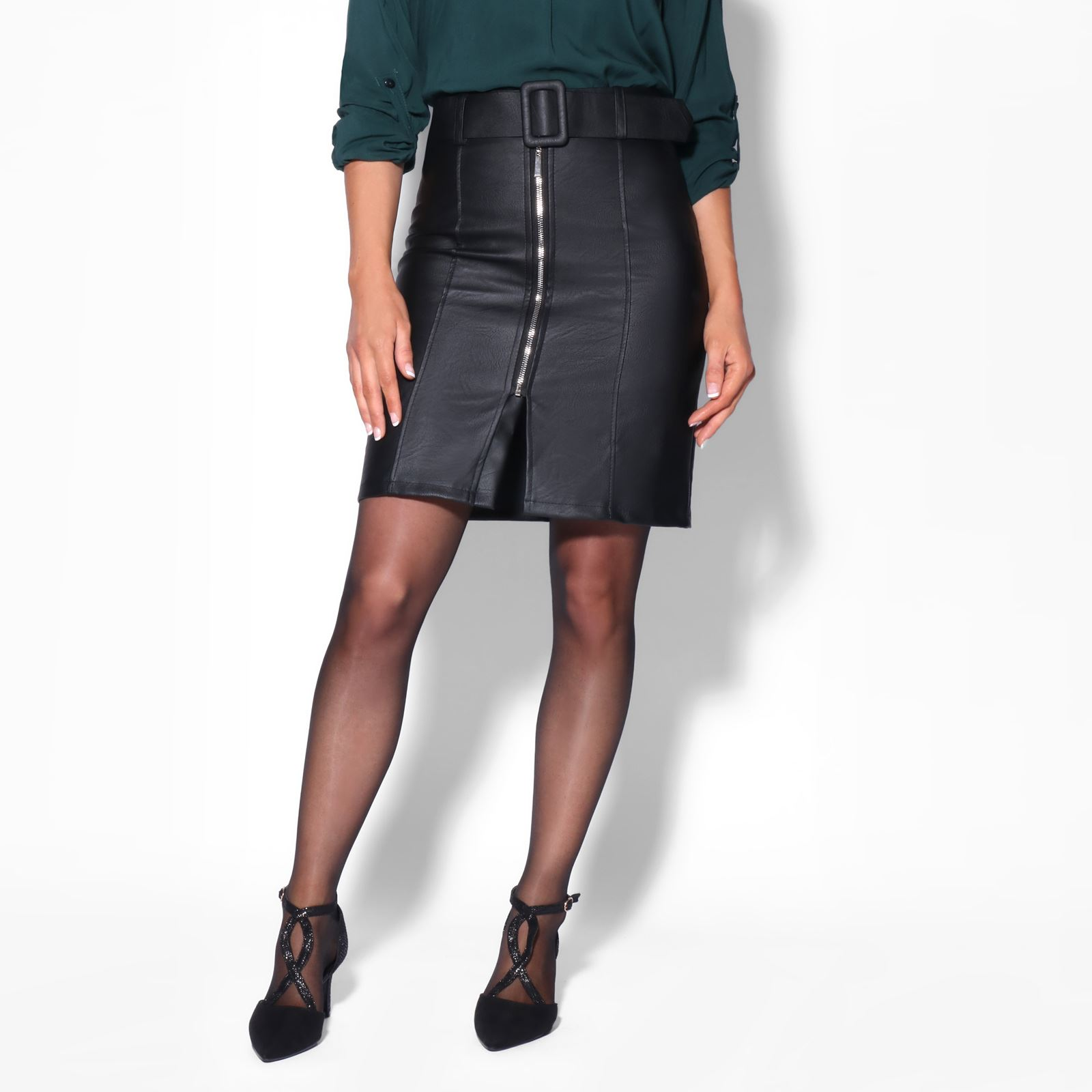 top-rated official sleek 2019 discount sale Details about Women Ladies PVC Leather High Waist Zip Pencil Straight  Bodycon Skirt Work Party