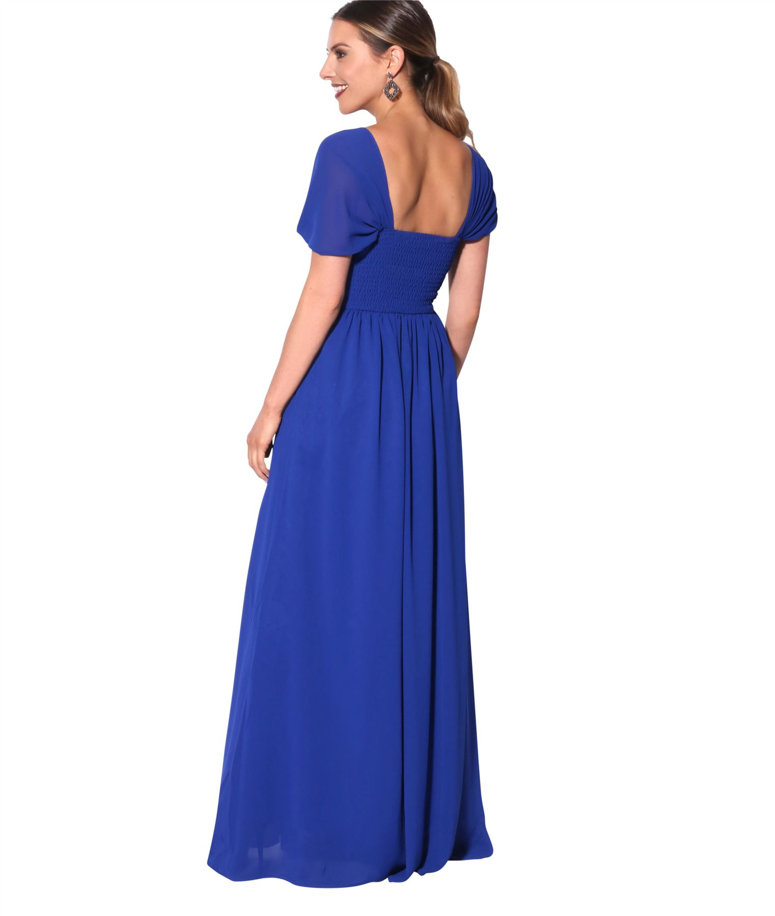 Womens-Formal-Evening-Wedding-Maxi-Prom-Dress-Long-On-Off-Shoulder-Ball-Gown thumbnail 50