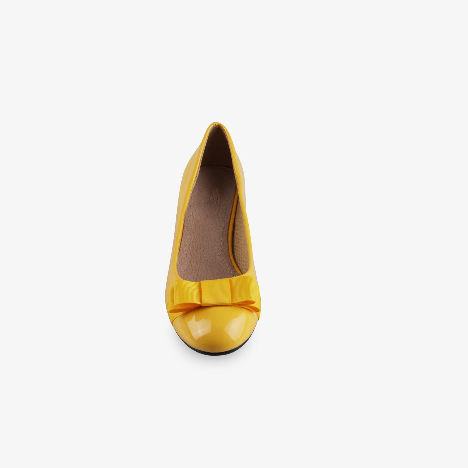 Damen-Elegante-Absatzschuhe-Hochlganz-Pumps-Blockabsatz-Ballerina-Schuhe-Chic Indexbild 10