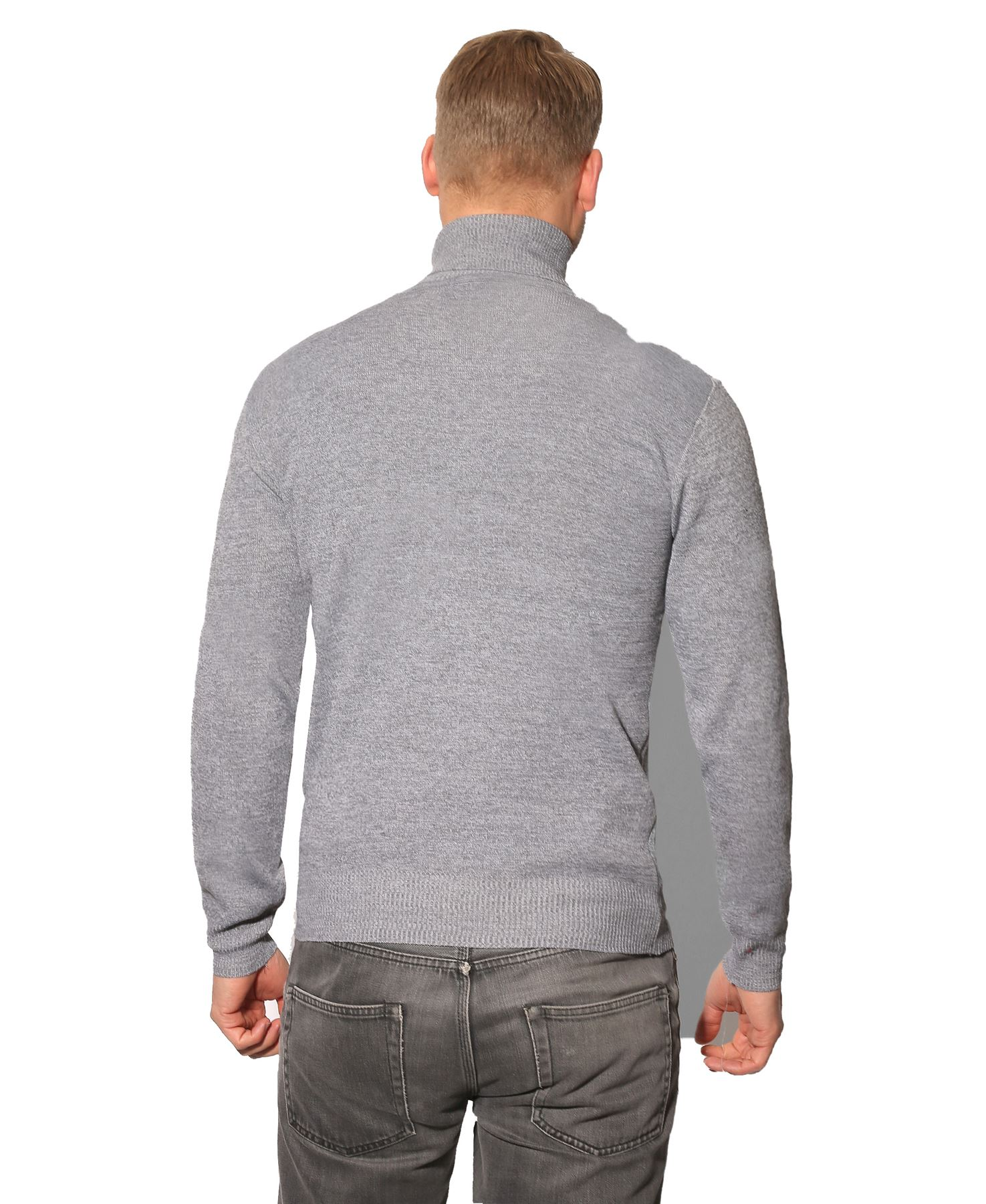 Jersey-Hombre-Lana-Caliente-Barato-Cuello-Vuelto-Alto-Talla-Grande-Frio-Invierno miniatura 13