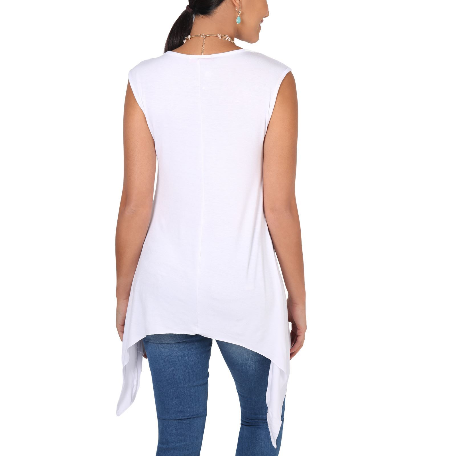 Women-Long-Top-Sleeveless-Pleated-Tee-Shirt-Tunic-Jersey-Stretch-Loose-Fit thumbnail 32