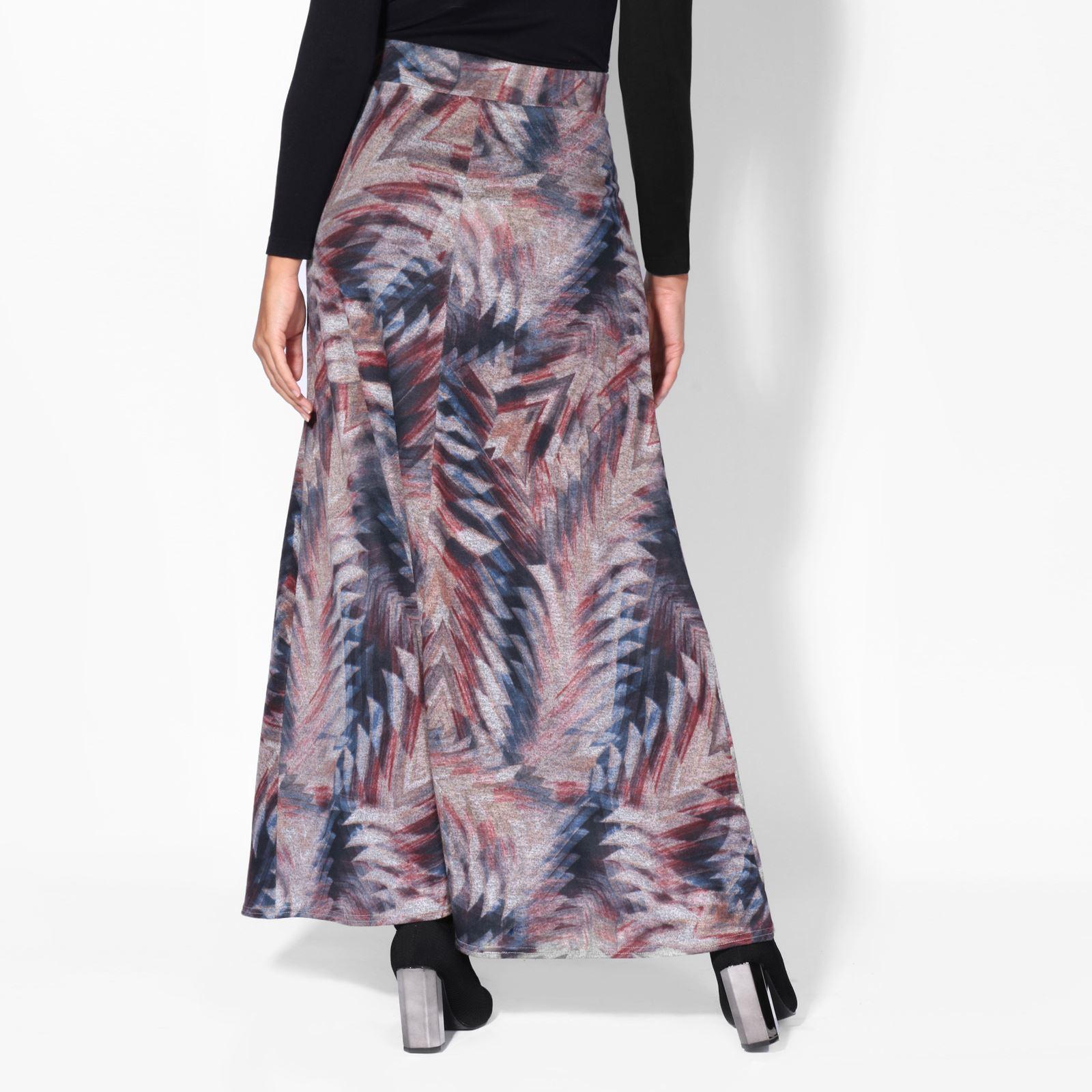 Women Aztec Print High Waist Maxi Skirt Ladies Long A Line Boho Casual Bodycon
