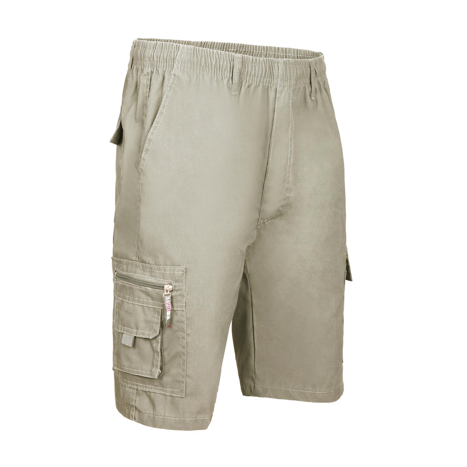Détails sur Hommes Short Pantacourt Bermudda Uni Cargo Armée Militaire Coton Chino Capri