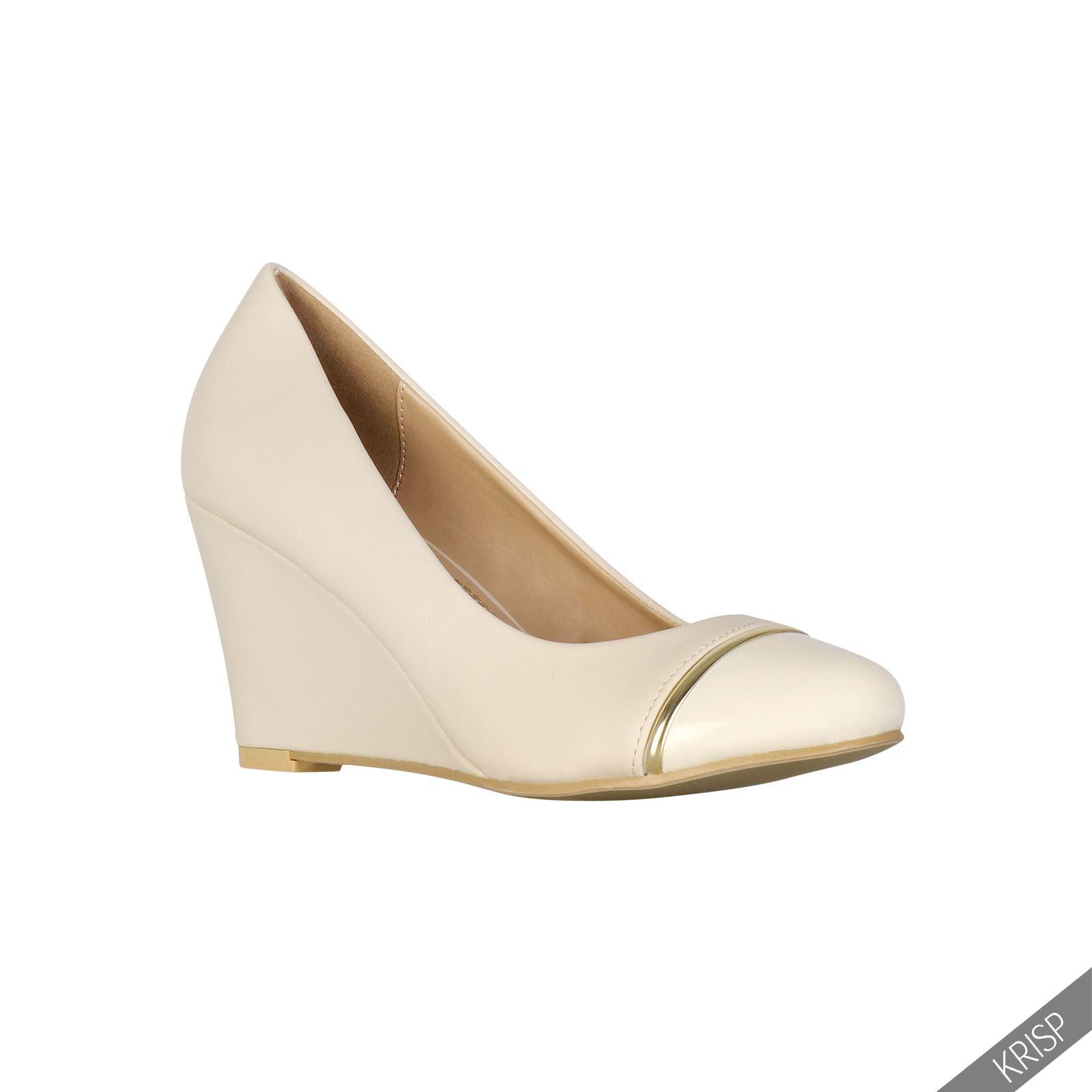 91c5d991cf2ab Zapatos Tacón Cuña Mediano Tacones Básicos Clásicos Elegantes Salón ...