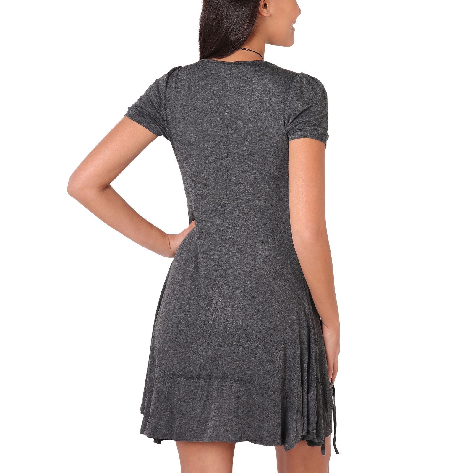 KRISP-Women-2-in-1-Boho-Gypsy-Tunic-Dress-Top-Tee-Jersey-Pleated-A-Line-Necklace thumbnail 7