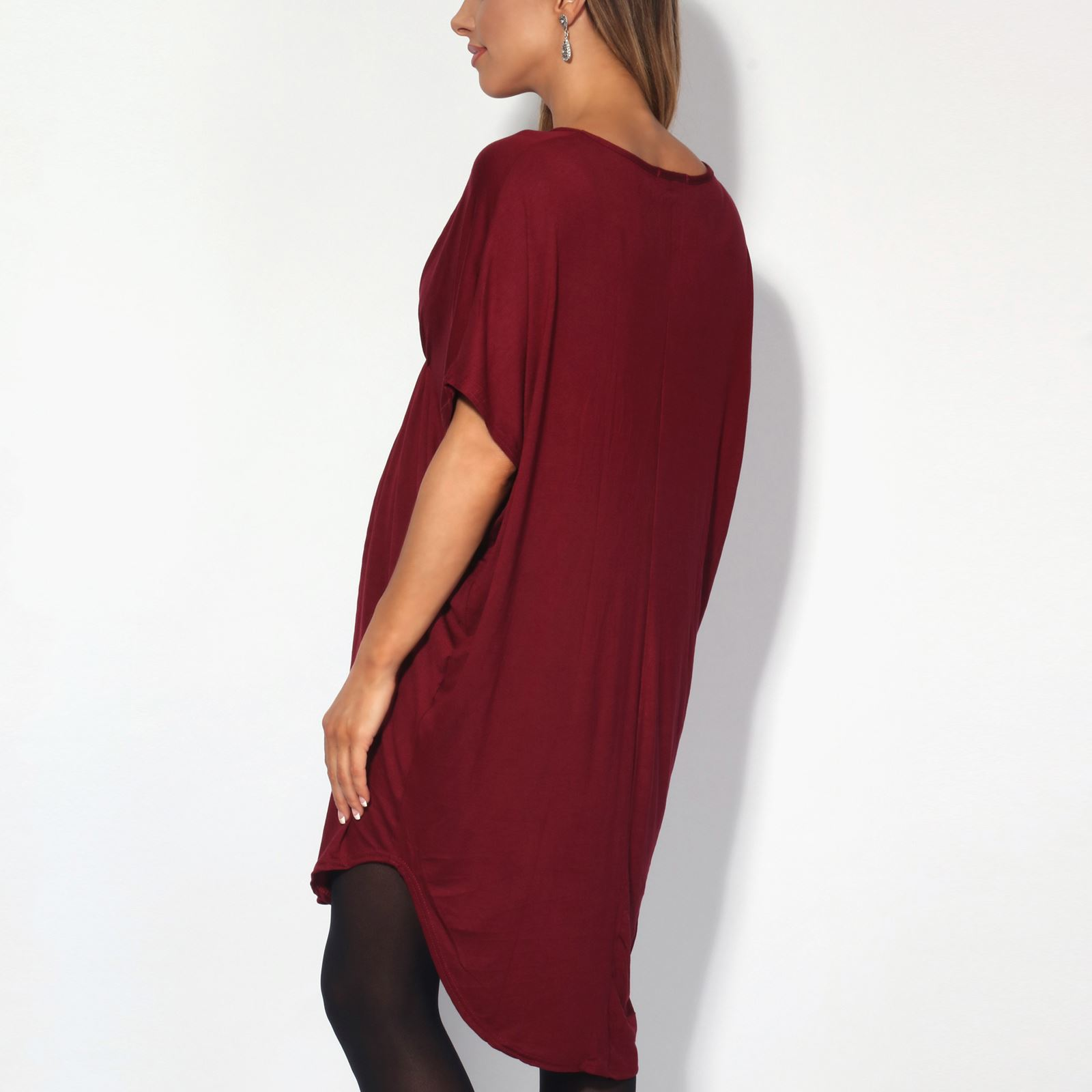 Maternity-Dress-Empire-Line-Top-Long-Loose-T-Shirt-Batwing-Tunic-Pregnancy-Plus thumbnail 16
