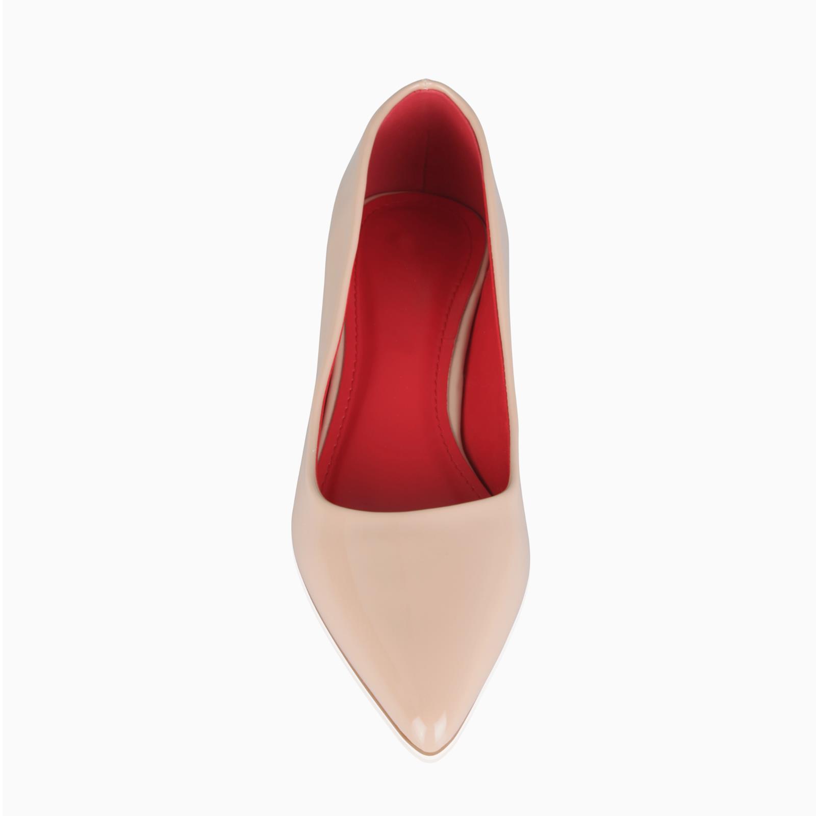 NJ Women Classic Low Block Heel Pumps Pointed Toe Patent Slip On Business Ladies Dress Shoes