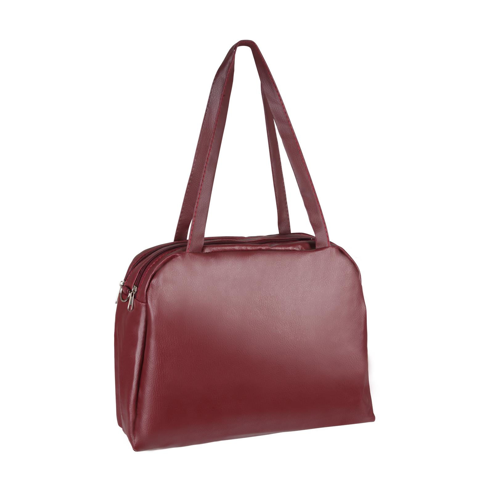 Medium-Handbag-Shoulder-Bowler-Bag-Vegan-Leather-Tote-Shop-Office-Work-Fashion thumbnail 10