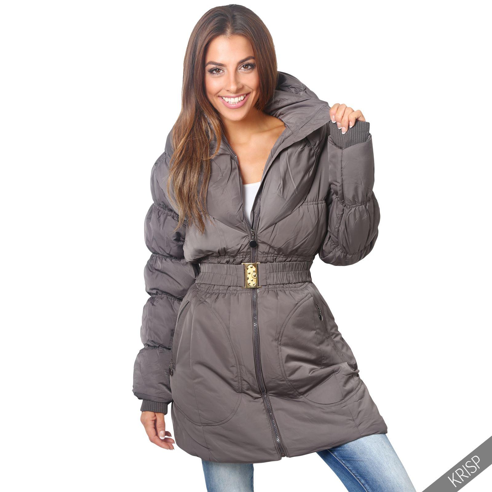 femmes manteau doudoune matelass e longue ceinture classique grandes tailles ebay. Black Bedroom Furniture Sets. Home Design Ideas
