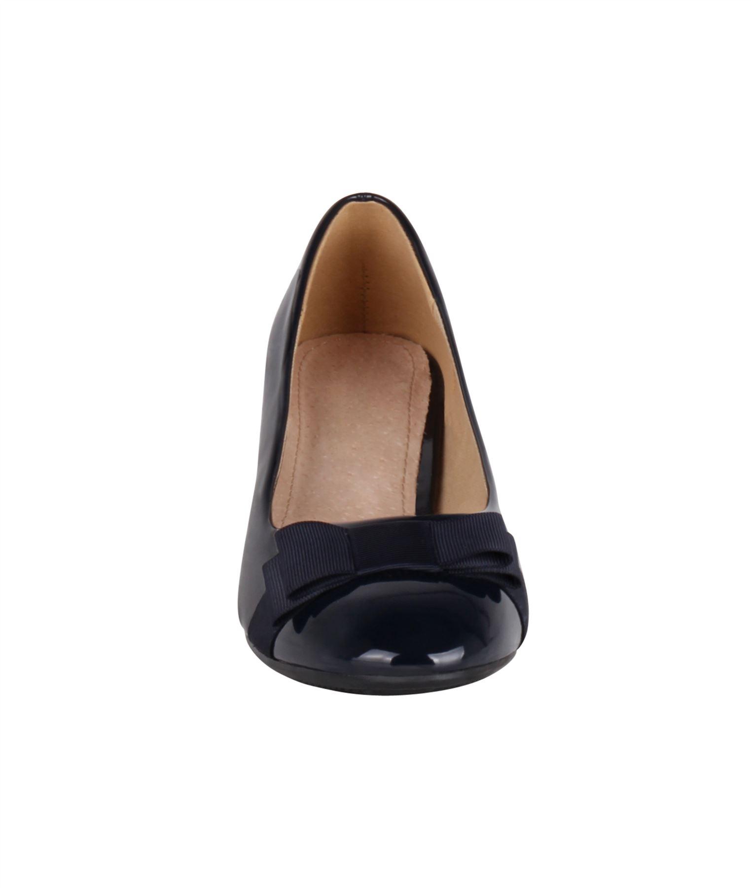 Damen-Elegante-Absatzschuhe-Hochlganz-Pumps-Blockabsatz-Ballerina-Schuhe-Chic Indexbild 19