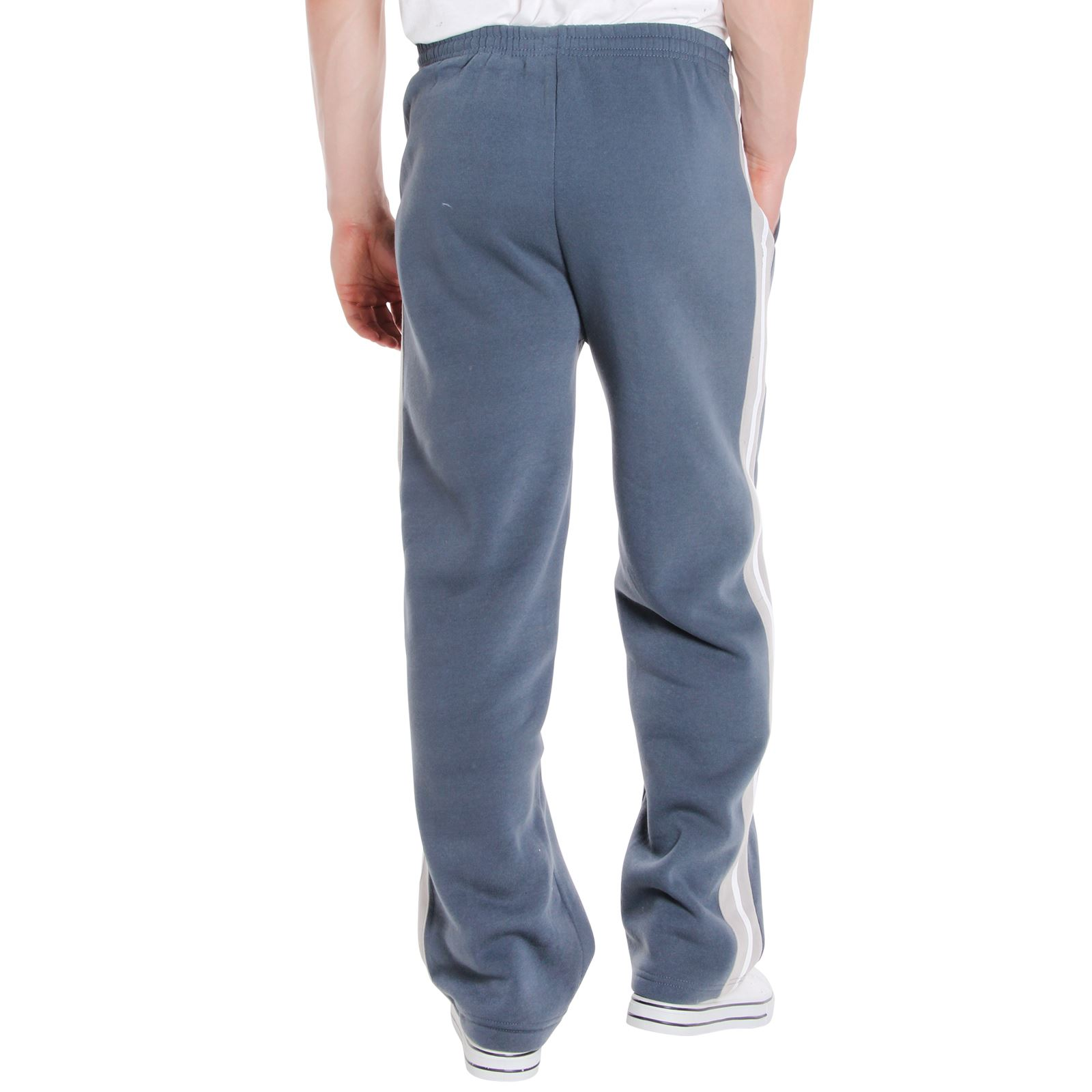 Mens-Tracksuit-Bottoms-Striped-Joggers-Jogging-Trousers-Fleece-Pants-Casual-Work thumbnail 15