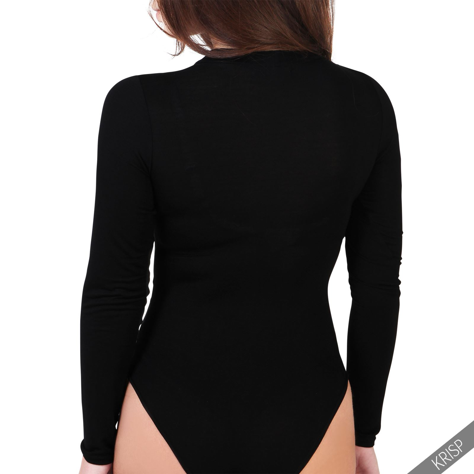 damen body bodysuit sexy stretch top kurzarm langarm. Black Bedroom Furniture Sets. Home Design Ideas