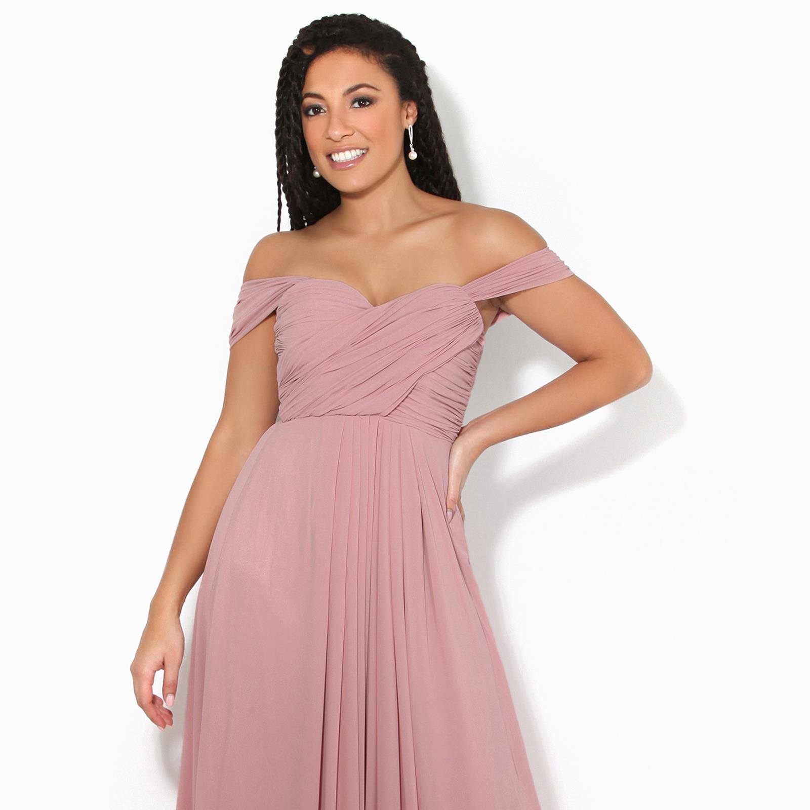 Womens-Formal-Evening-Wedding-Maxi-Prom-Dress-Long-On-Off-Shoulder-Ball-Gown thumbnail 23