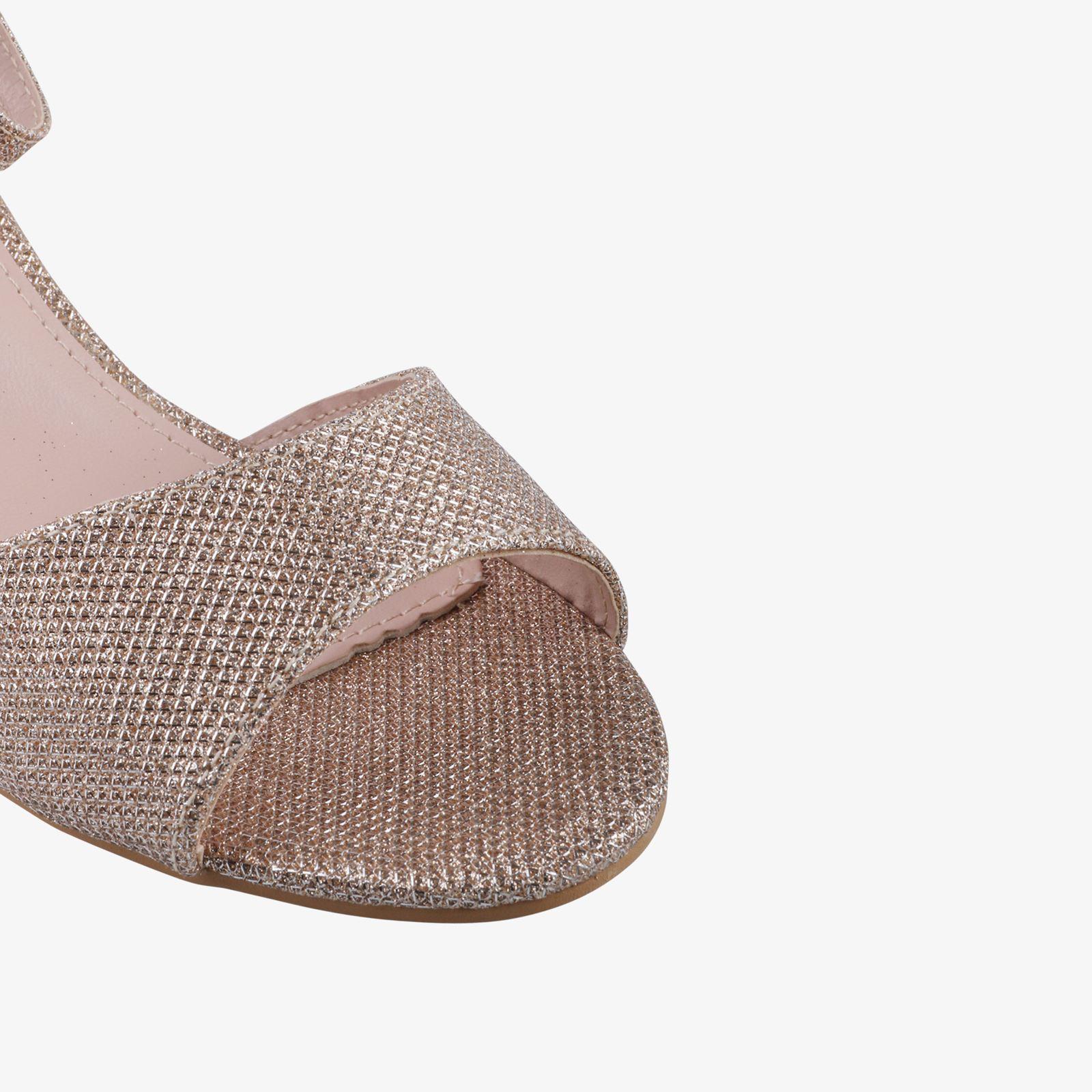 Women-Ladies-Low-Kitten-Heel-Court-Shoes-Open-Toe-Glitter-Sandals-Party-Bridal thumbnail 3
