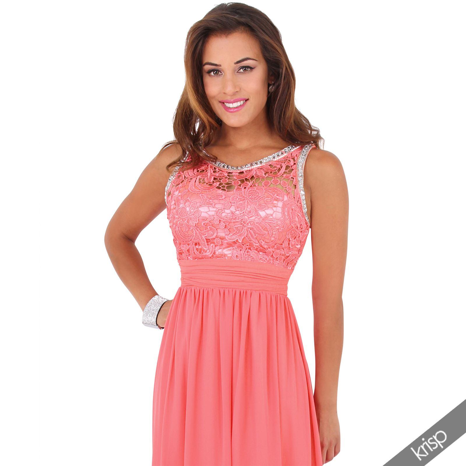 Vestido de Fiesta Noche Brillantes Dama de Honor Boda Gala Nuevo | eBay