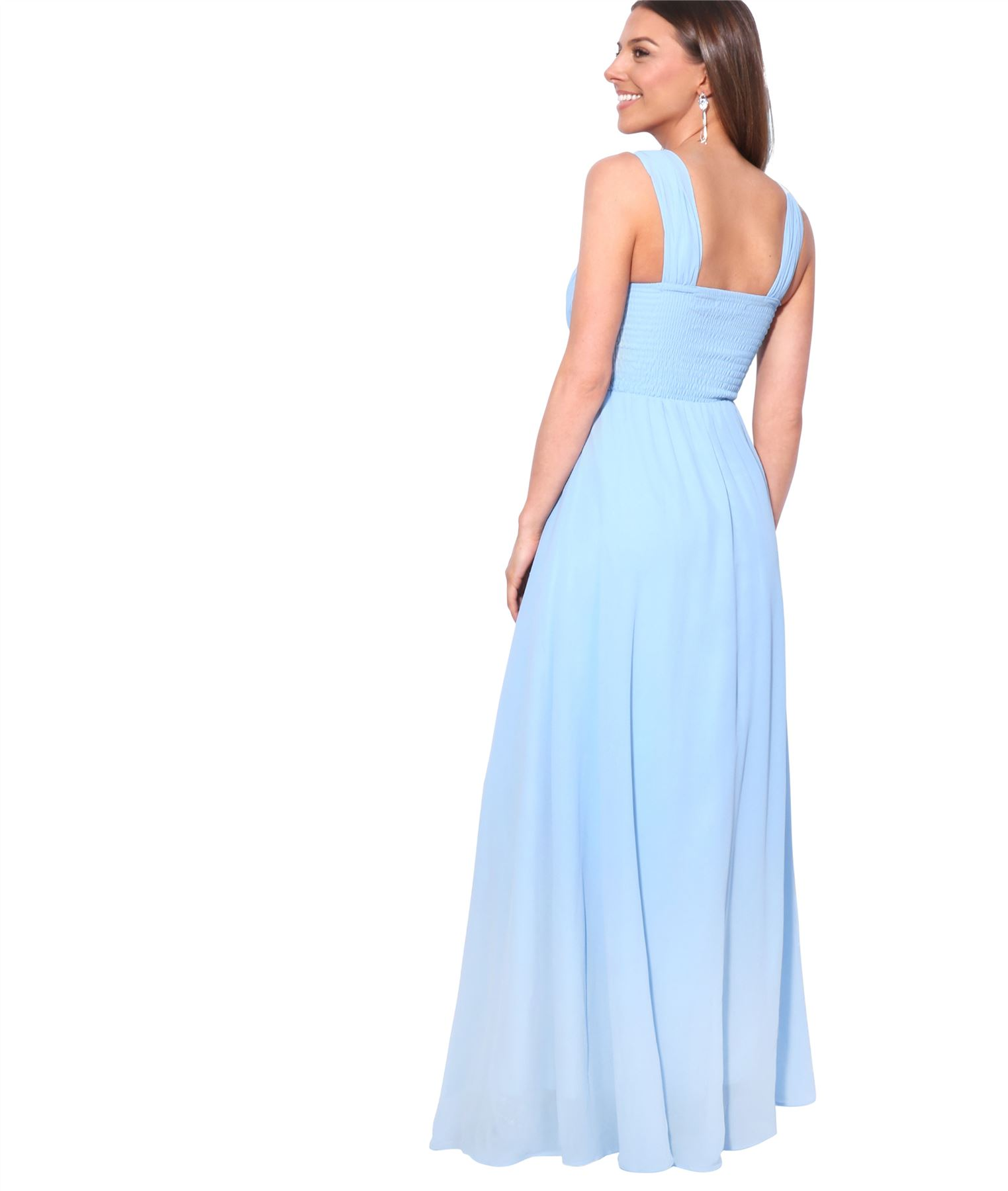 Womens-Formal-Evening-Wedding-Maxi-Prom-Dress-Long-On-Off-Shoulder-Ball-Gown thumbnail 6