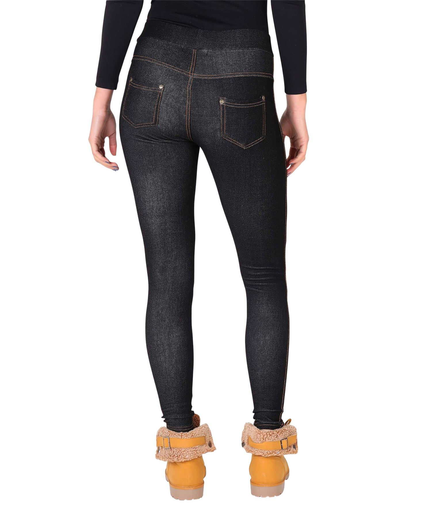 Womens-Warm-Fleece-Lined-Stretch-Denim-Jeans-Thermal-Winter-Leggings-Jeggings thumbnail 10