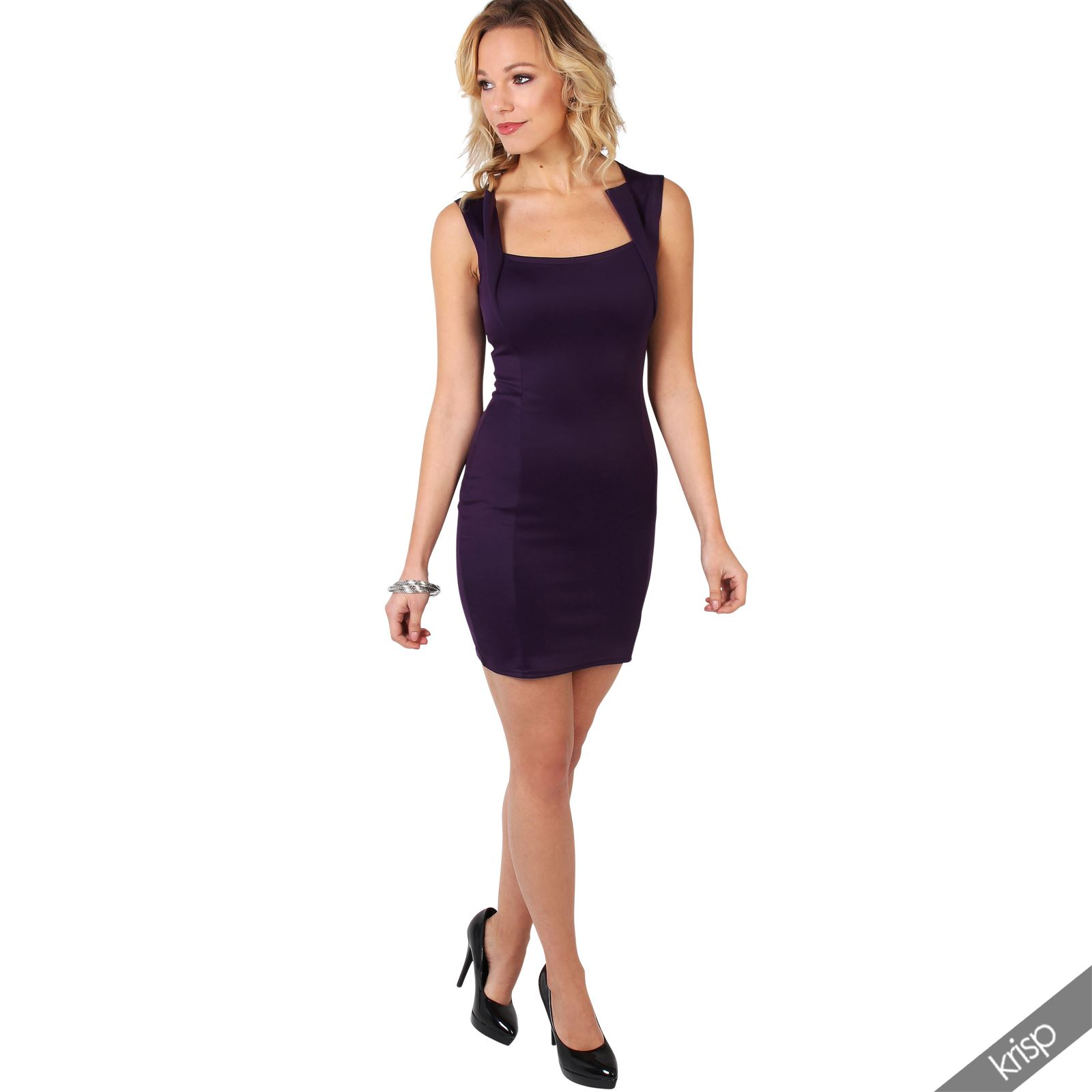 Ladies-Fashion-Bodycon-Dress-Sleeveless-Backless-Party-Fitted-Cocktail-Pencil thumbnail 12