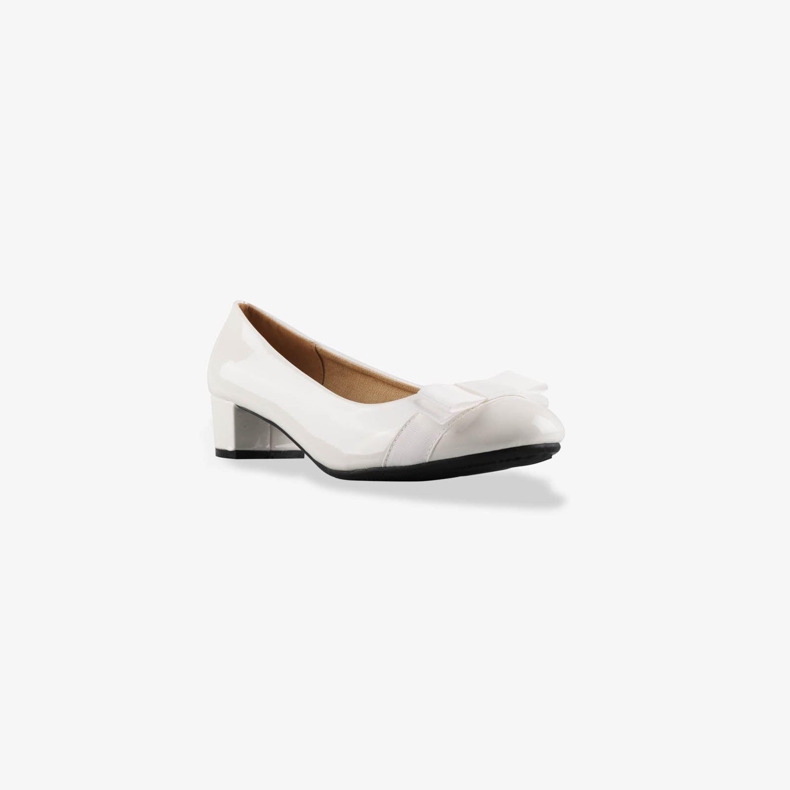 Damen-Elegante-Absatzschuhe-Hochlganz-Pumps-Blockabsatz-Ballerina-Schuhe-Chic Indexbild 29