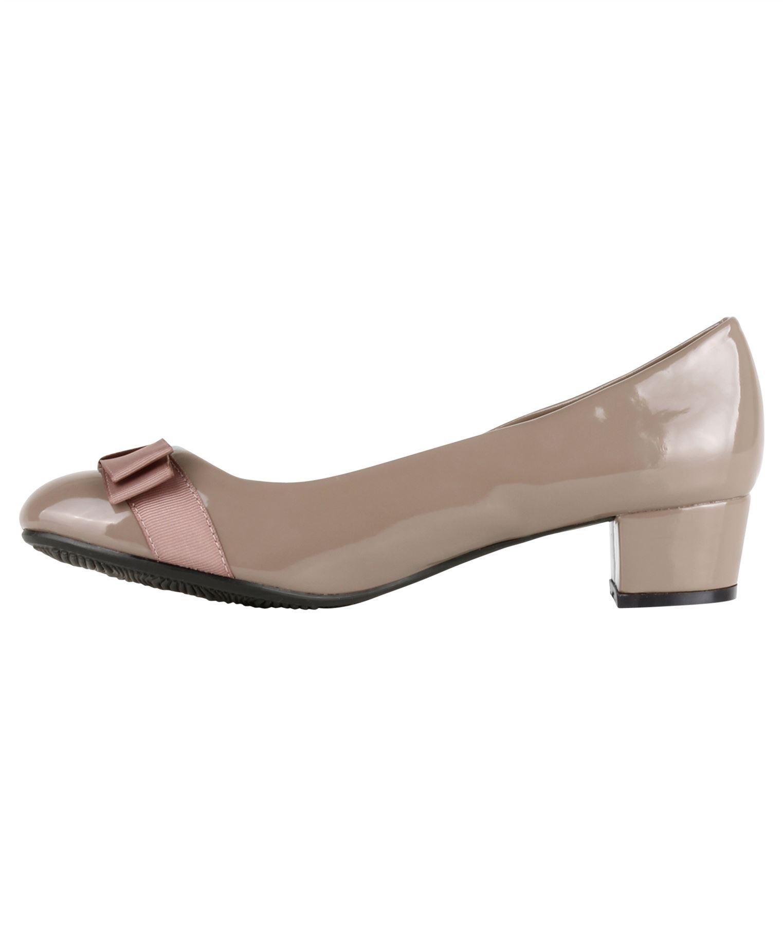 Damen-Elegante-Absatzschuhe-Hochlganz-Pumps-Blockabsatz-Ballerina-Schuhe-Chic Indexbild 16