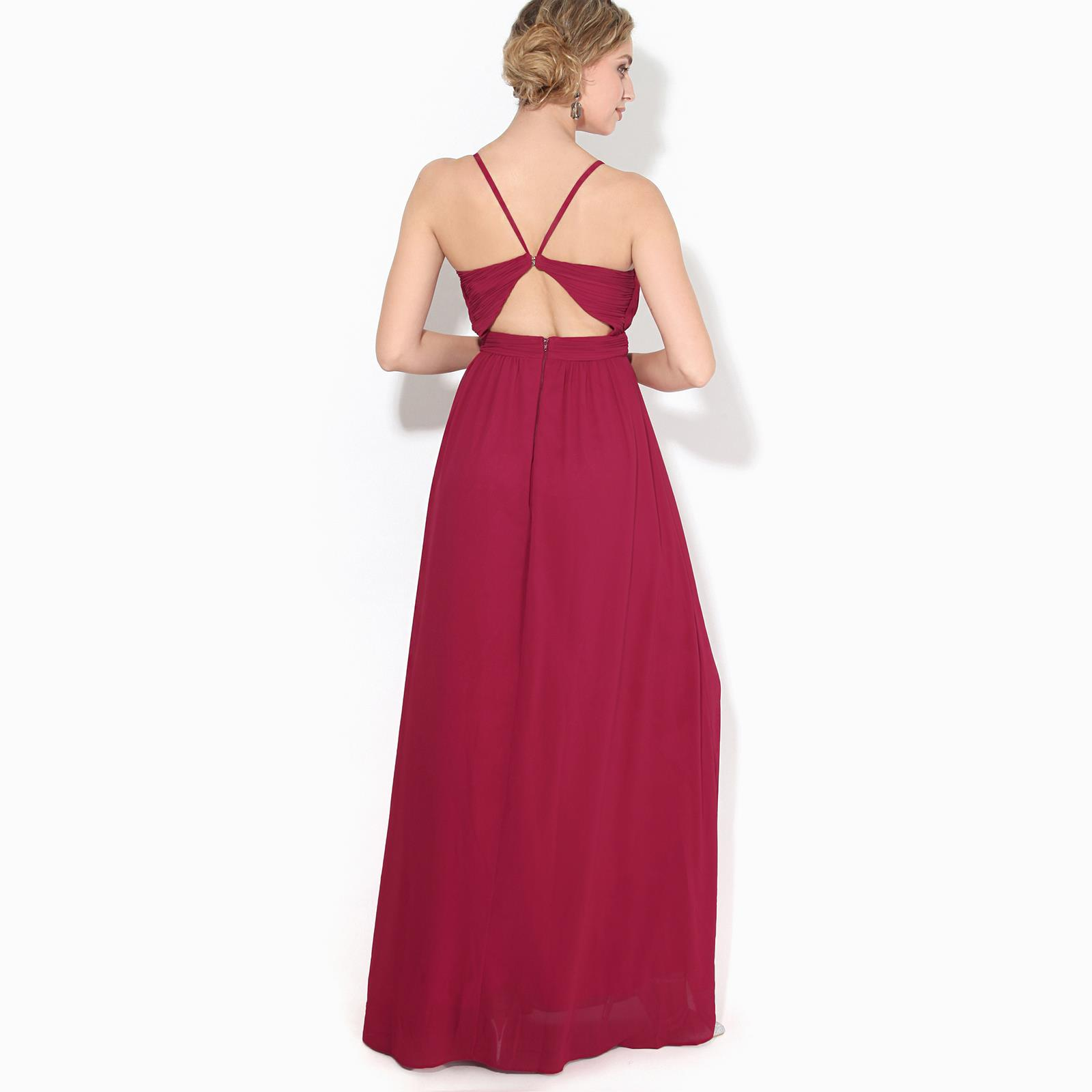 Womens-Ladies-Strappy-Maxi-Dress-Formal-Wedding-Evening-Party-Ball-Gown-Cocktail thumbnail 7