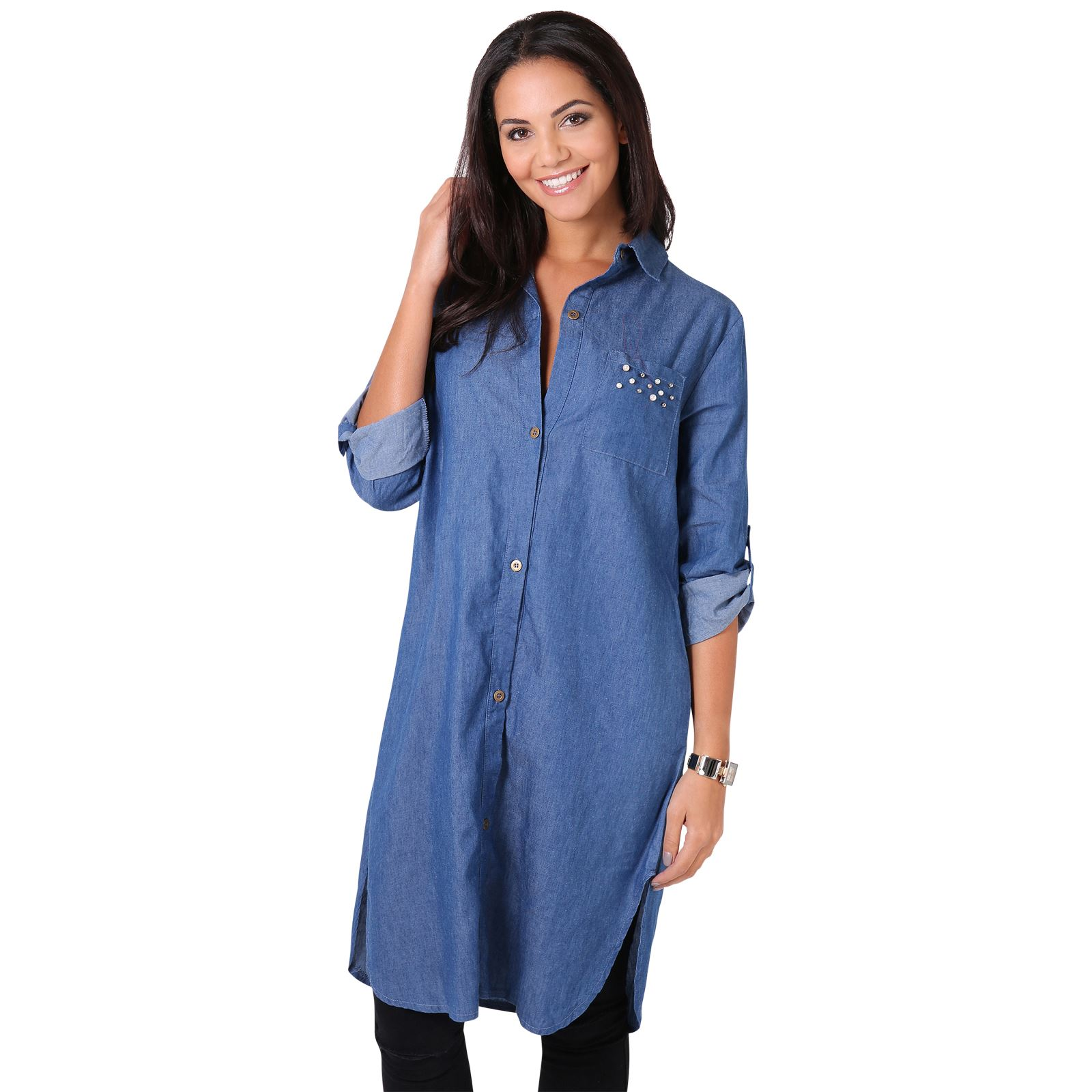Beautiful Lyst - Free People Baby Blues Denim Tunic In Blue