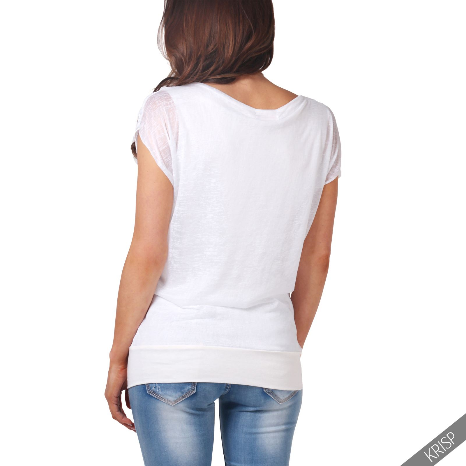 femmes top haut tunique blouse t shirt col v b nitier d bardeur affaires casual ebay. Black Bedroom Furniture Sets. Home Design Ideas
