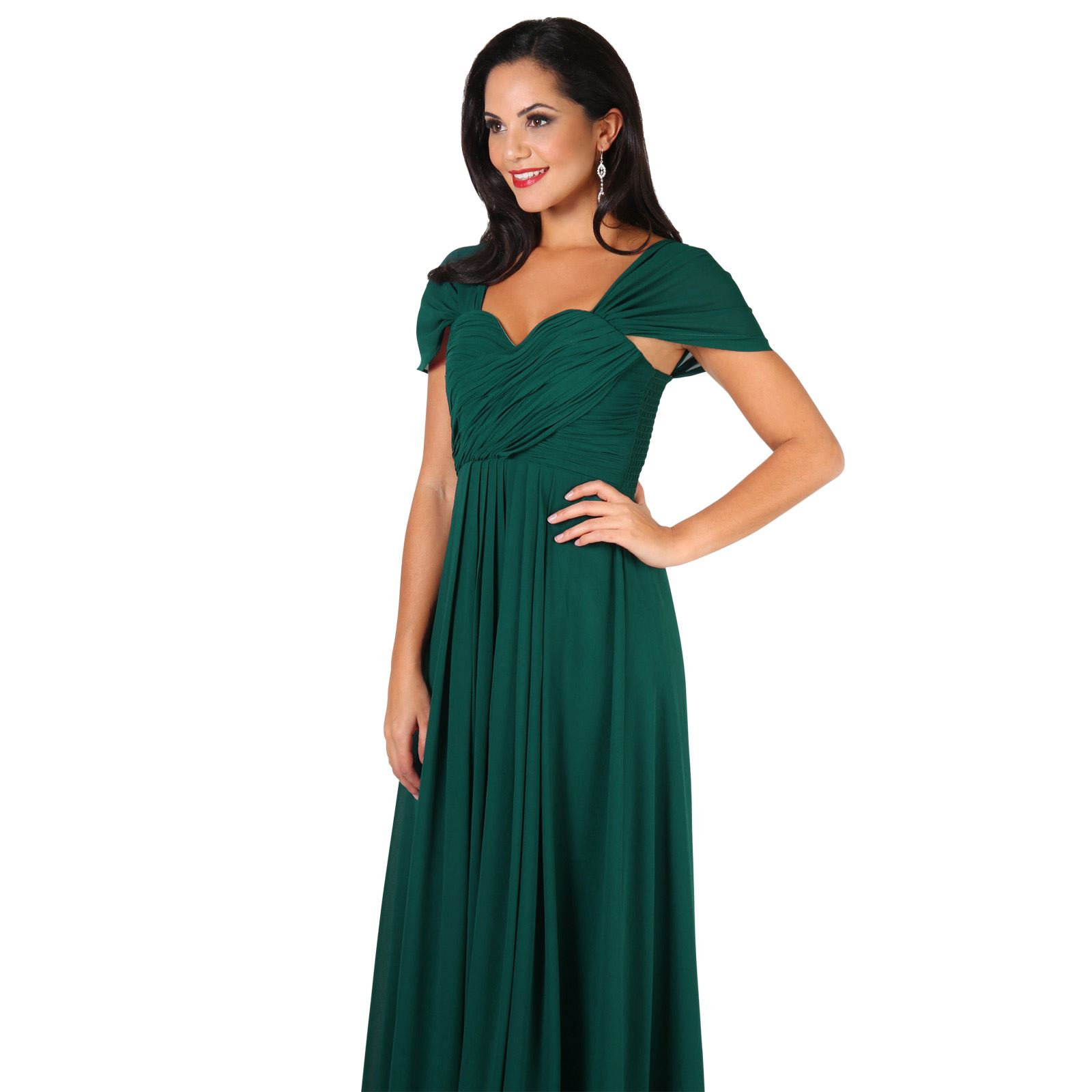Womens-Formal-Evening-Wedding-Maxi-Prom-Dress-Long-On-Off-Shoulder-Ball-Gown thumbnail 20