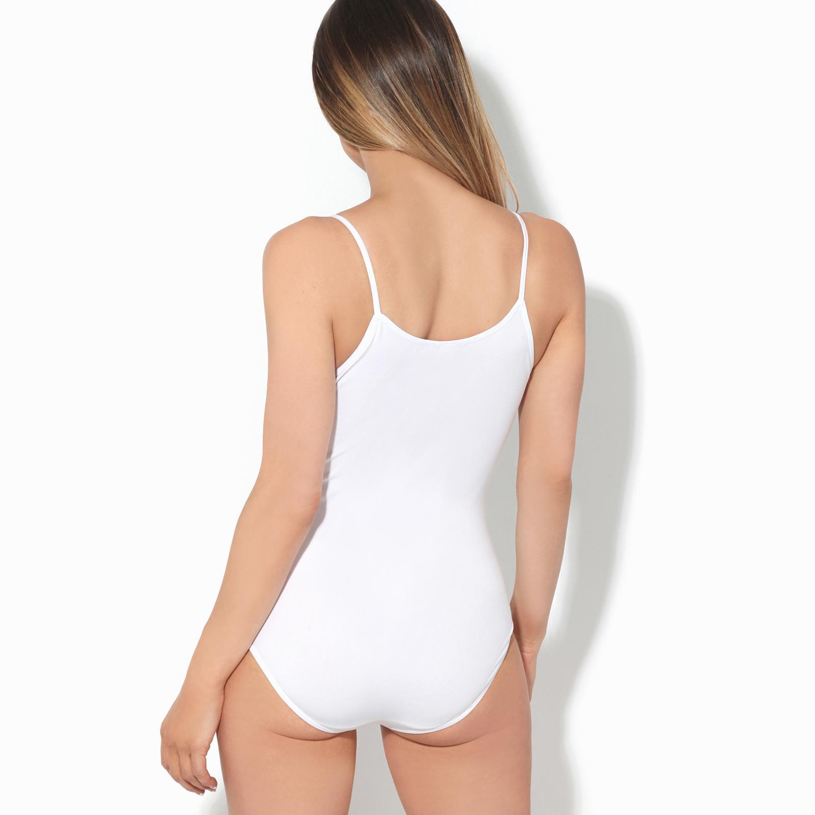 Body-Mujer-Basico-Invierno-Cuello-Barato-Top-Camiseta-Ajustado-Tirantes-Elastico miniatura 17