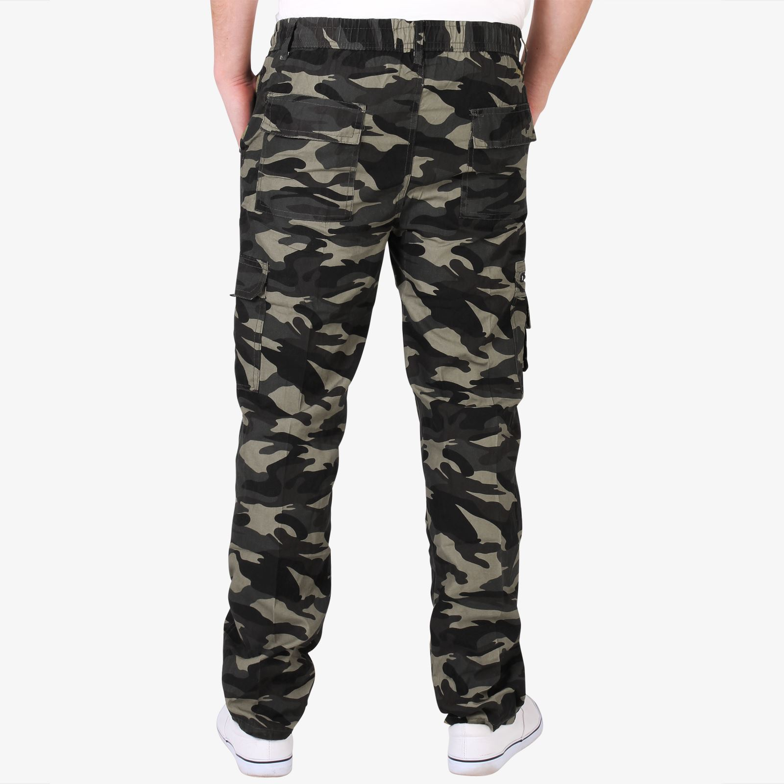 Mens-Combat-Military-Army-Camouflage-Cargo-Camo-Trousers-Pants-Casual-Work-Sizes thumbnail 4