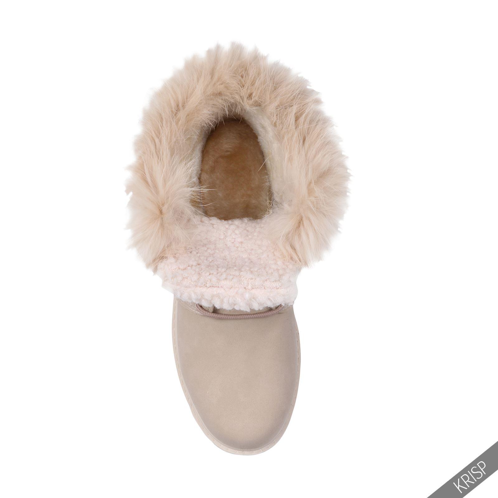 Botines-Mujer-Camel-Bota-Plana-Suela-Goma-Cordones-Casual-Otono-Invierno-Tacon miniatura 23