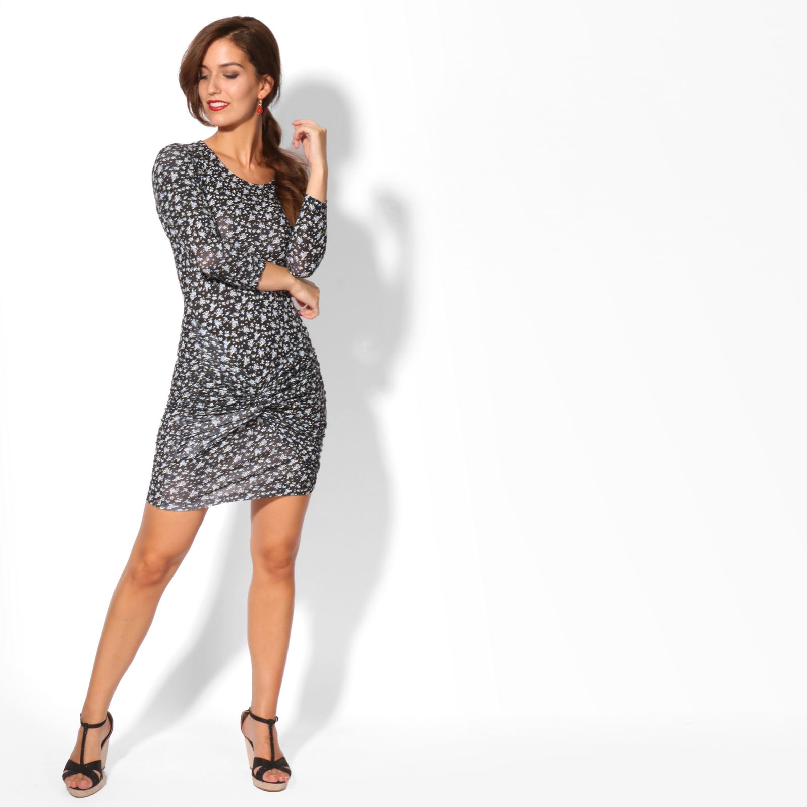 KRISP-Women-2-in-1-Boho-Gypsy-Tunic-Dress-Top-Tee-Jersey-Pleated-A-Line-Necklace thumbnail 3