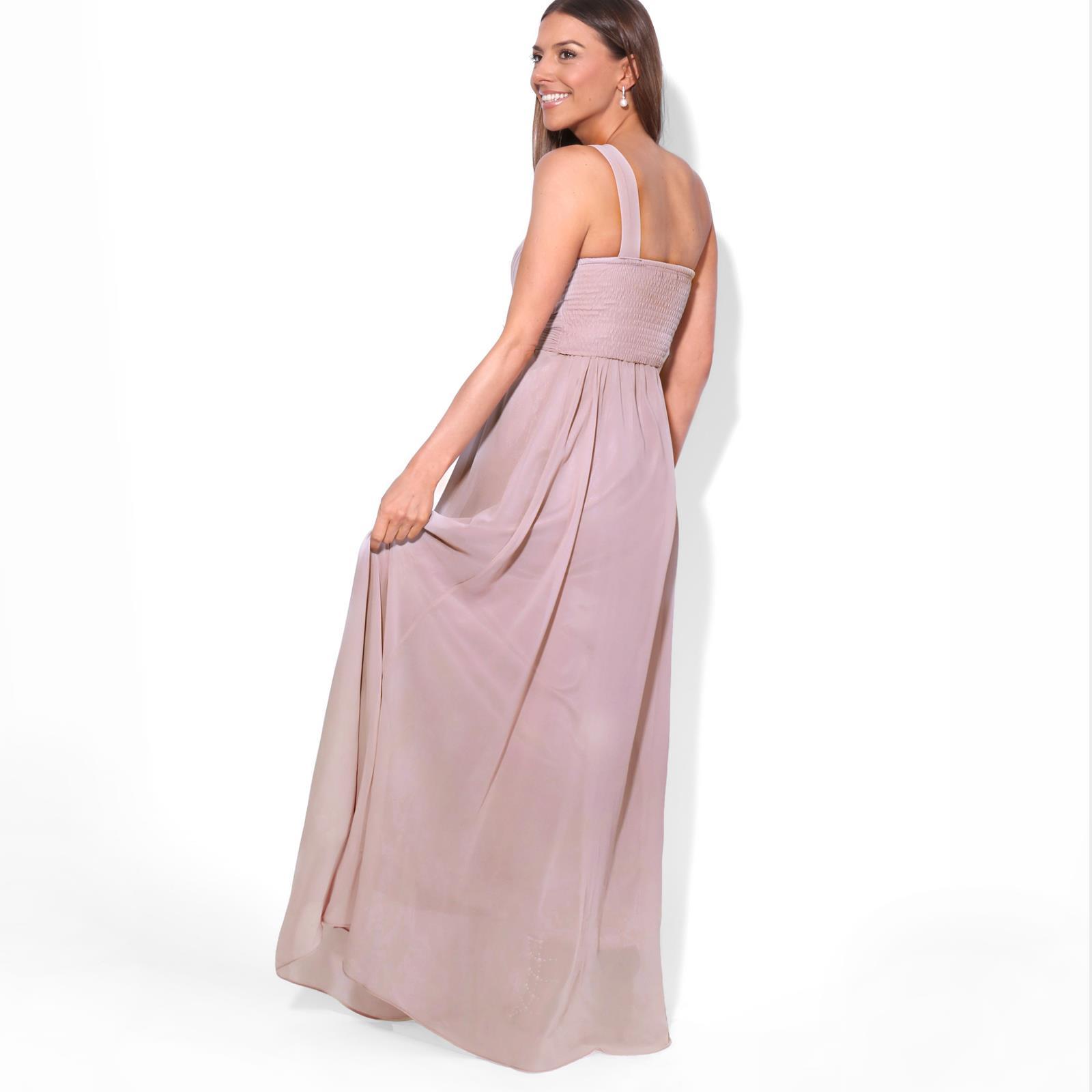 Womens-Wedding-Bridesmaid-Prom-Dress-Formal-One-Off-Shoulder-Long-Evening-8-18 thumbnail 69
