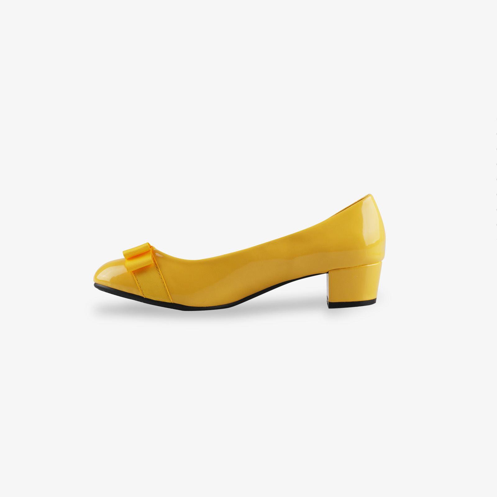 Damen-Elegante-Absatzschuhe-Hochlganz-Pumps-Blockabsatz-Ballerina-Schuhe-Chic Indexbild 11