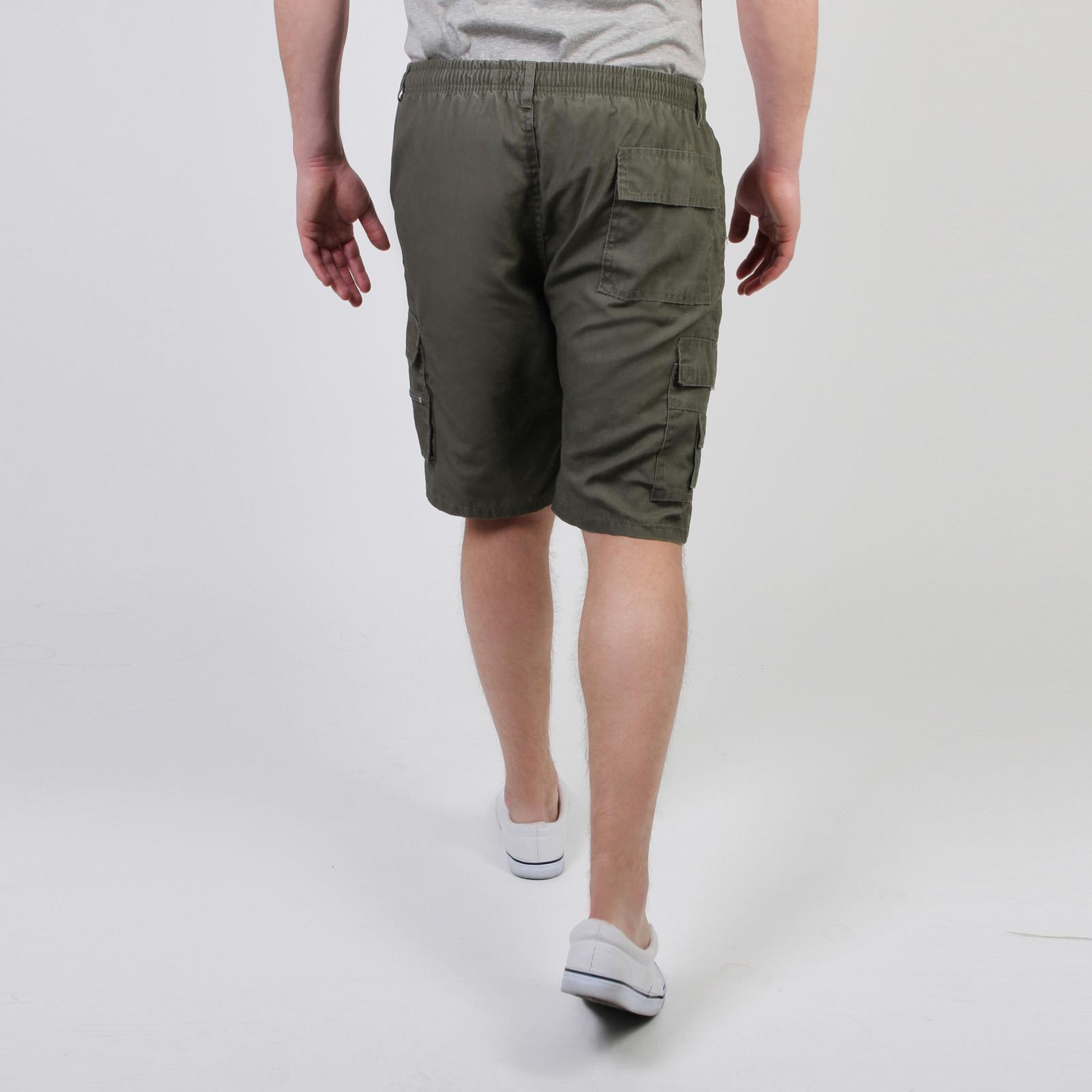 Mens-Cotton-Cargo-Shorts-Plain-Basic-Casual-Work-Chinos-Combat-Pants-Regular thumbnail 3