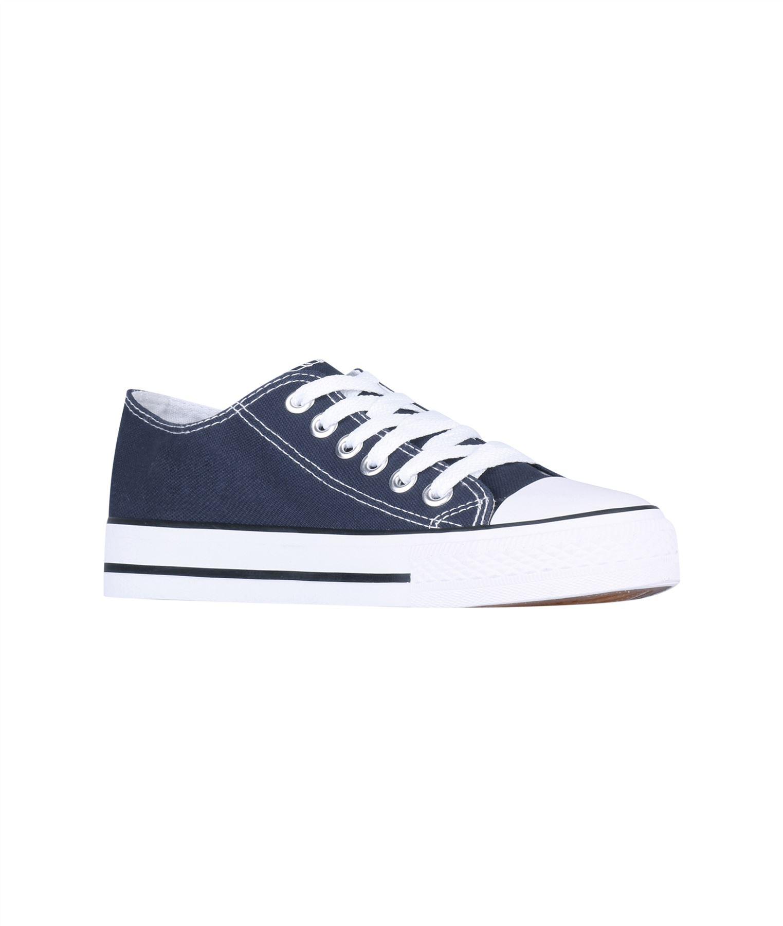 Zapatillas-Mujer-Casuales-Deportiva-Barata-Lona-Moda-Originales-Outlet-Tela-Moda miniatura 3