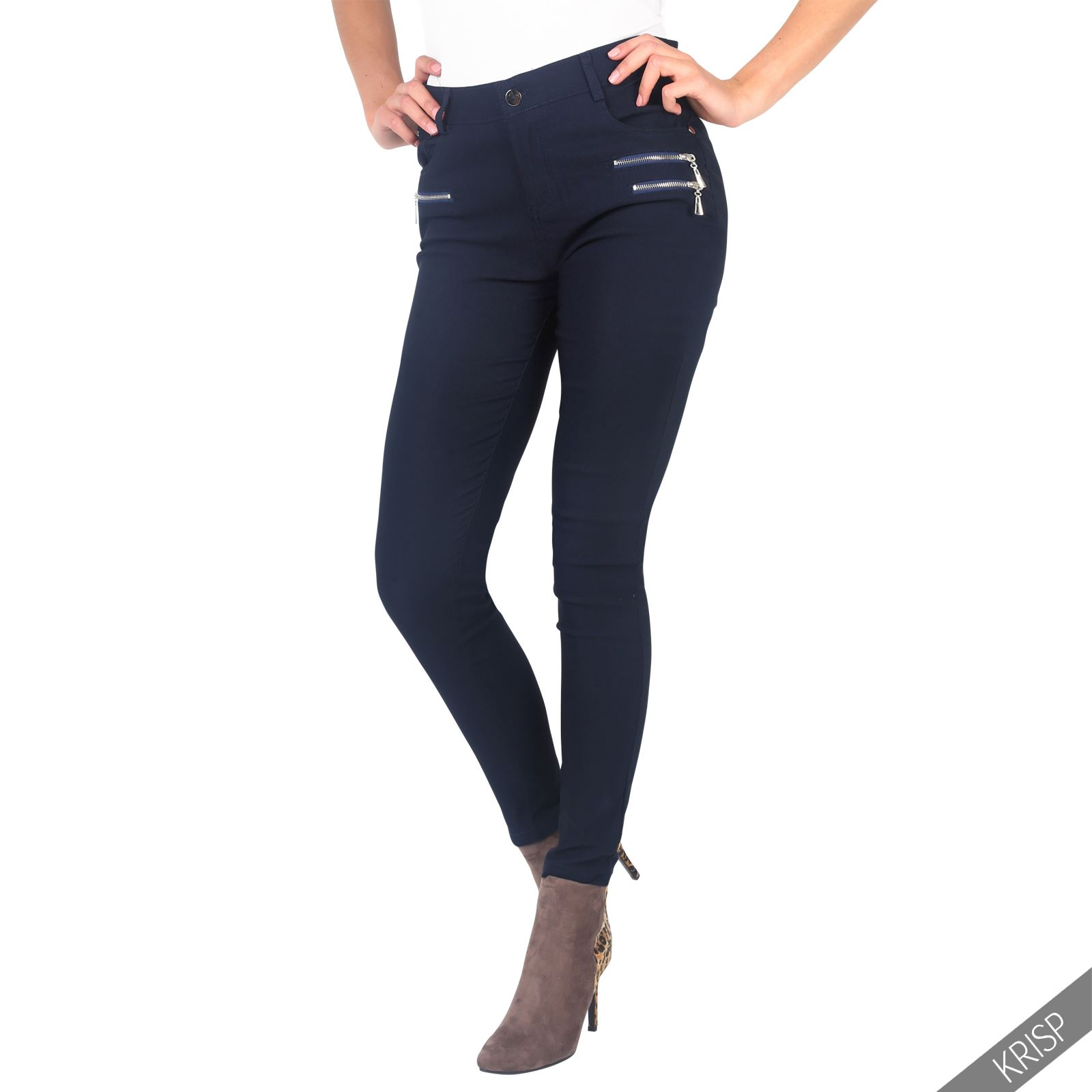 damen frauen basic normaler bund skinny hose enge jeans jeggings pants zipper ebay. Black Bedroom Furniture Sets. Home Design Ideas