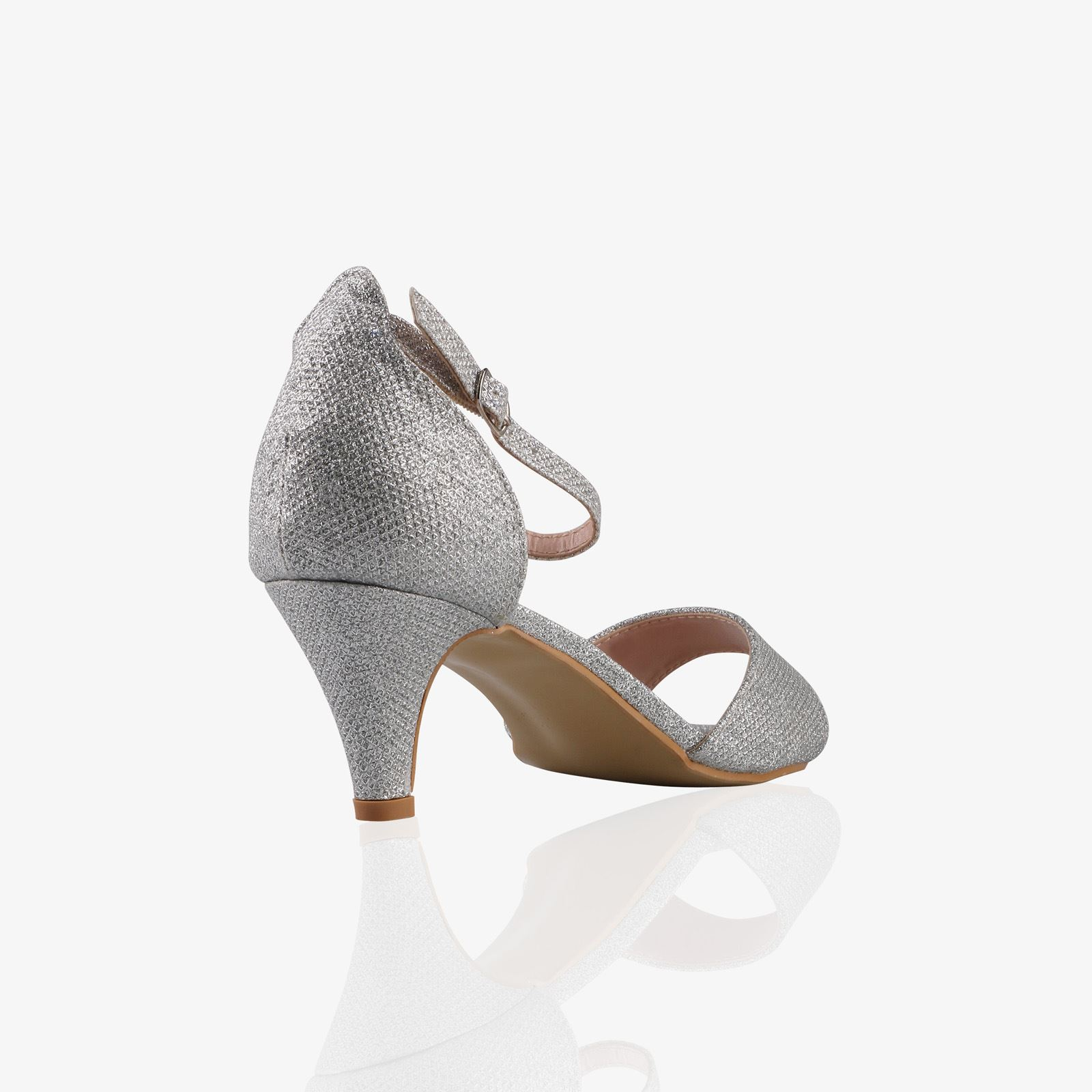 Women-Ladies-Low-Kitten-Heel-Court-Shoes-Open-Toe-Glitter-Sandals-Party-Bridal thumbnail 16