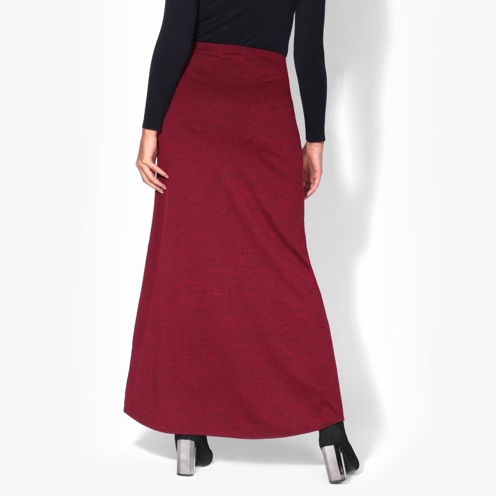 Womens-Ladies-Maxi-Skirt-High-Waist-A-Line-Long-Knit-Stretch-Bodycon-Casual-Boho thumbnail 19