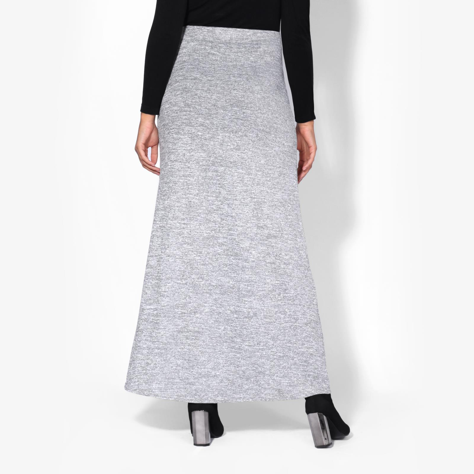 Womens-Ladies-Maxi-Skirt-High-Waist-A-Line-Long-Knit-Stretch-Bodycon-Casual-Boho thumbnail 9