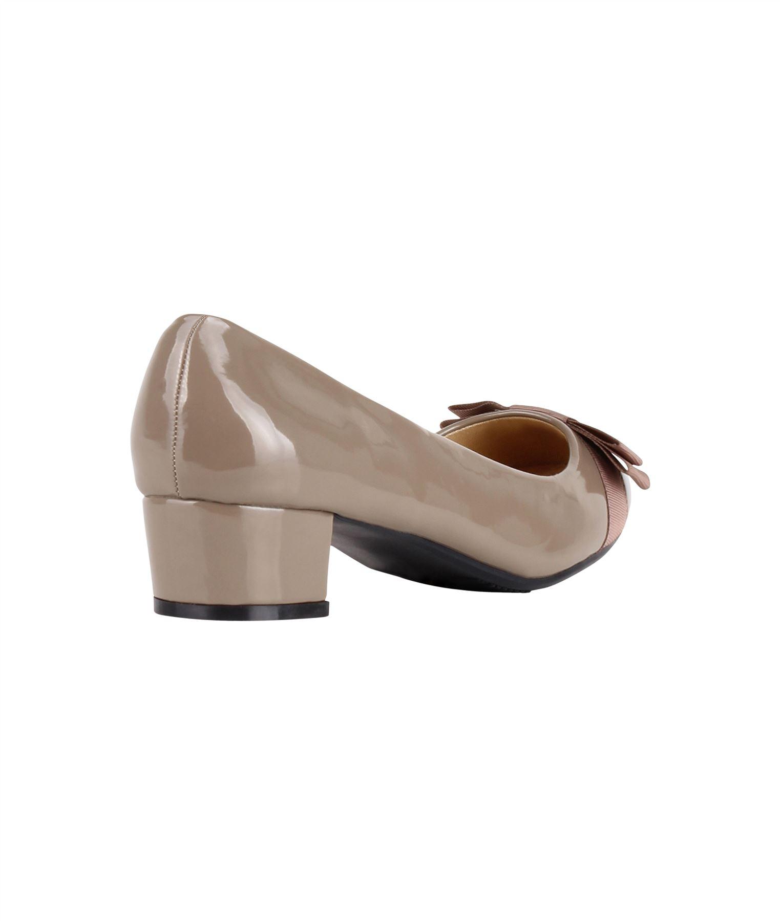 Damen-Elegante-Absatzschuhe-Hochlganz-Pumps-Blockabsatz-Ballerina-Schuhe-Chic Indexbild 15