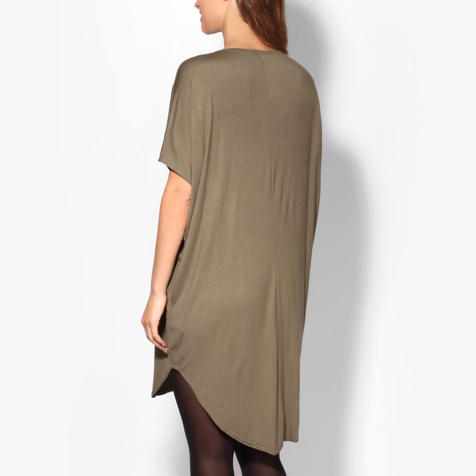 Maternity-Dress-Empire-Line-Top-Long-Loose-T-Shirt-Batwing-Tunic-Pregnancy-Plus thumbnail 6