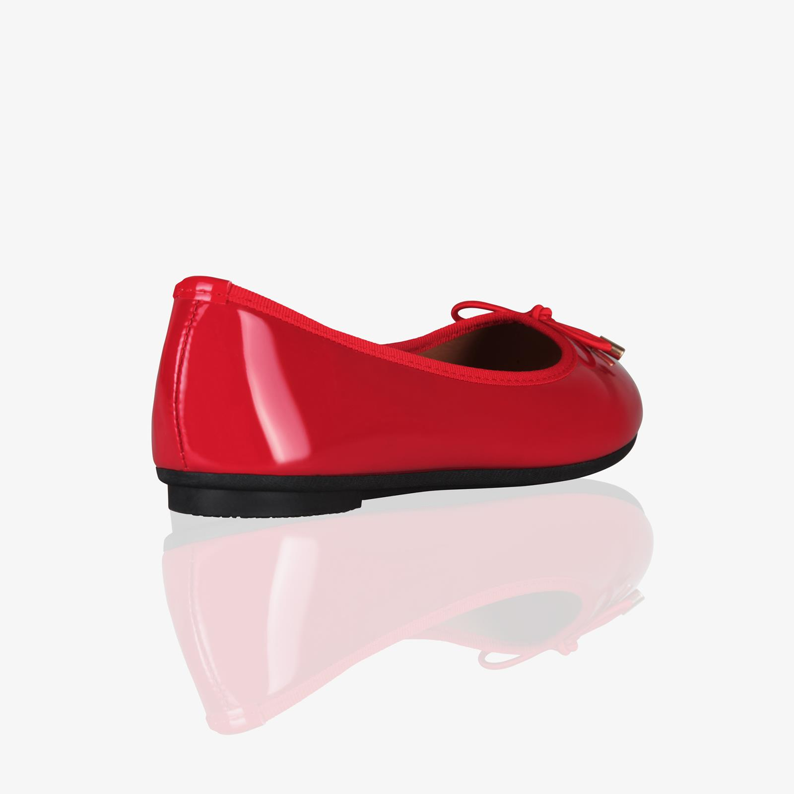 Womens-Ladies-Patent-Flat-Shoes-Ballerina-Ballet-Dolly-Court-Pumps-Slip-On-Bow thumbnail 13